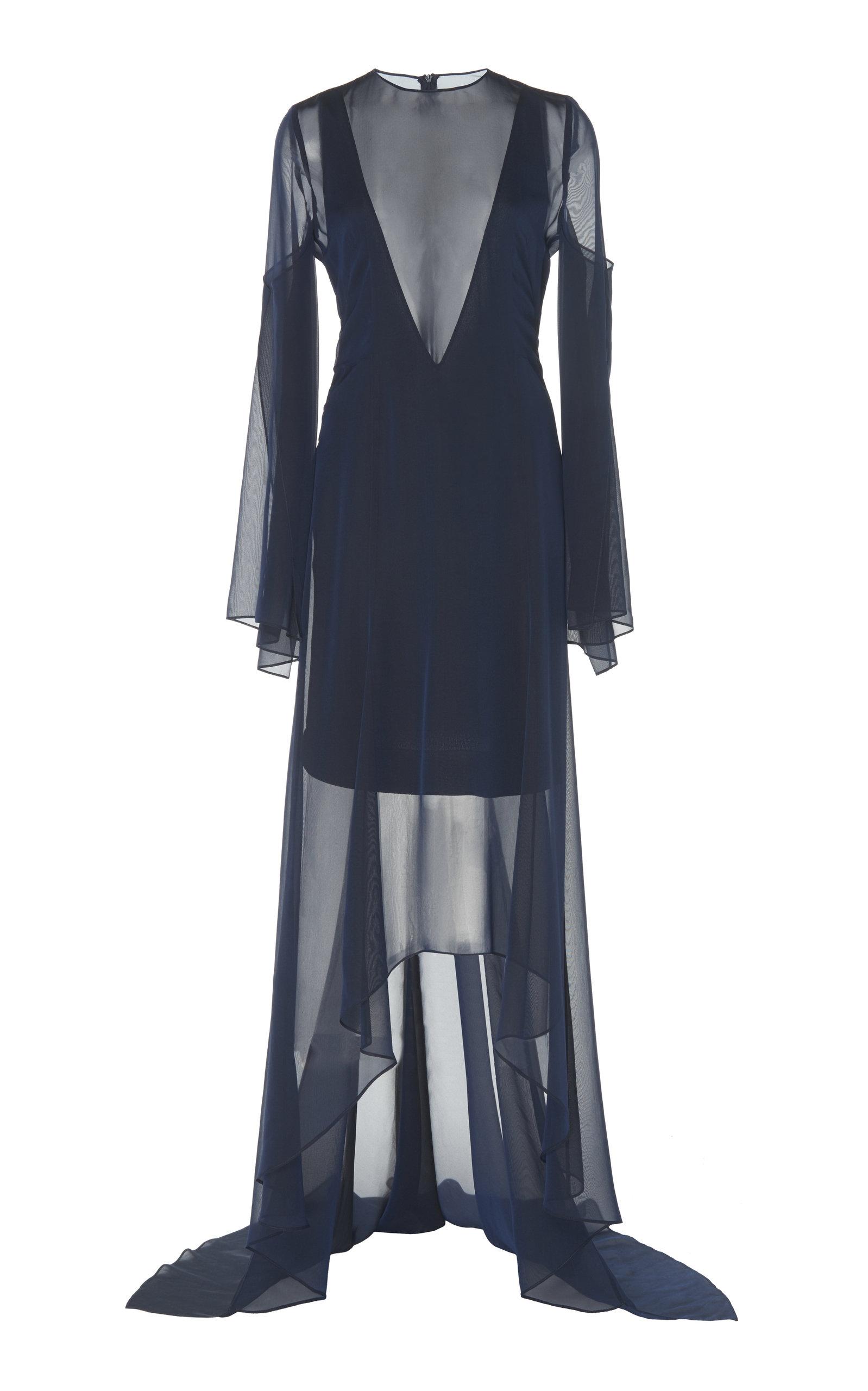 Buy Akris Semi-Sheer Silk Maxi Dress online, shop Akris at the best price