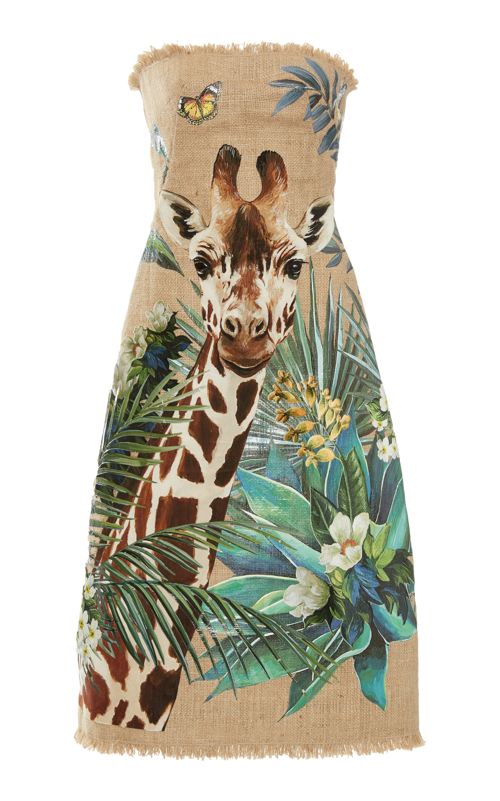 Buy Dolce & Gabbana Printed Canvas Dress online, shop Dolce & Gabbana at the best price