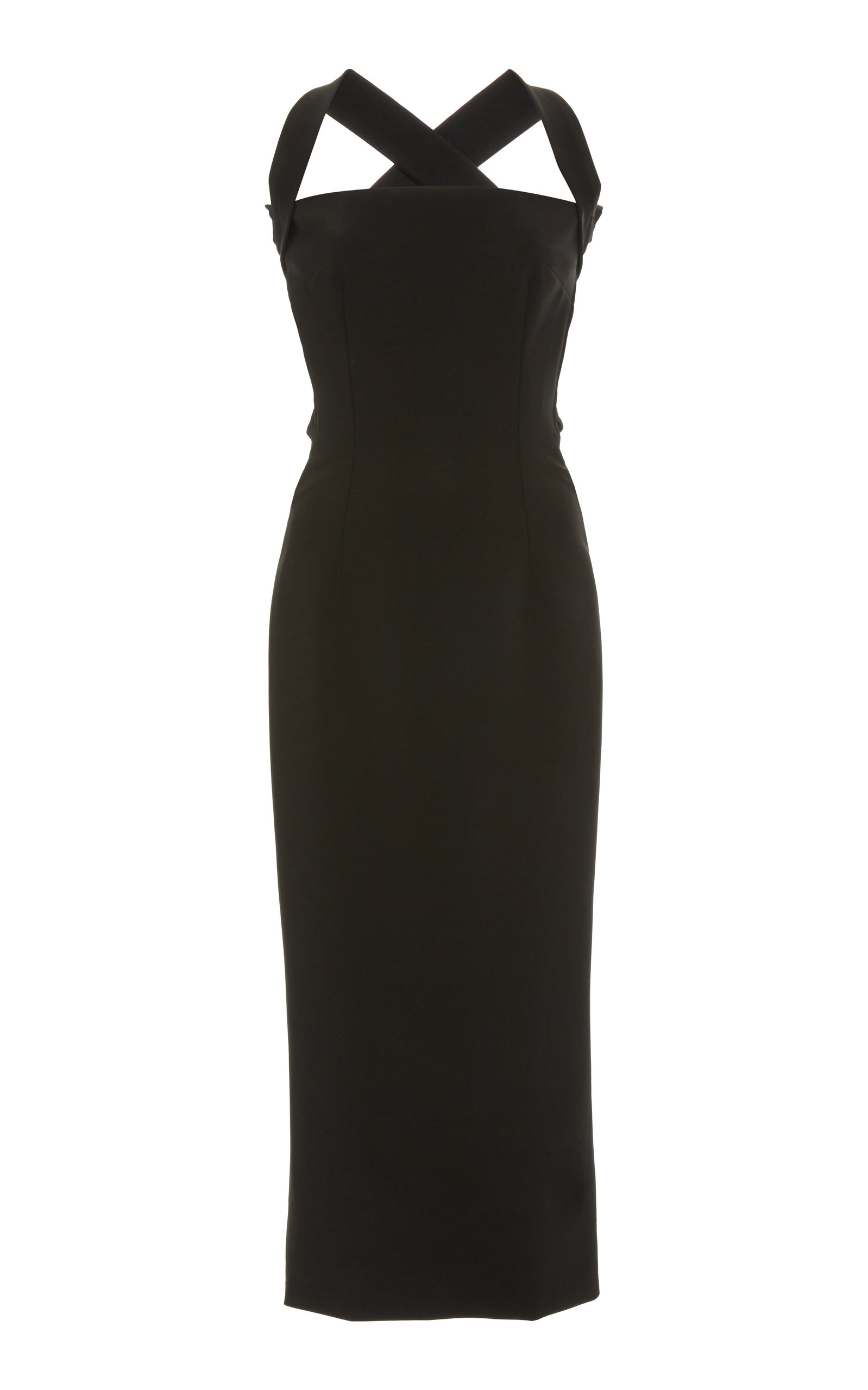 Buy Dolce & Gabbana Tie-Detailed Stretch-Jersey Midi Dress online, shop Dolce & Gabbana at the best price