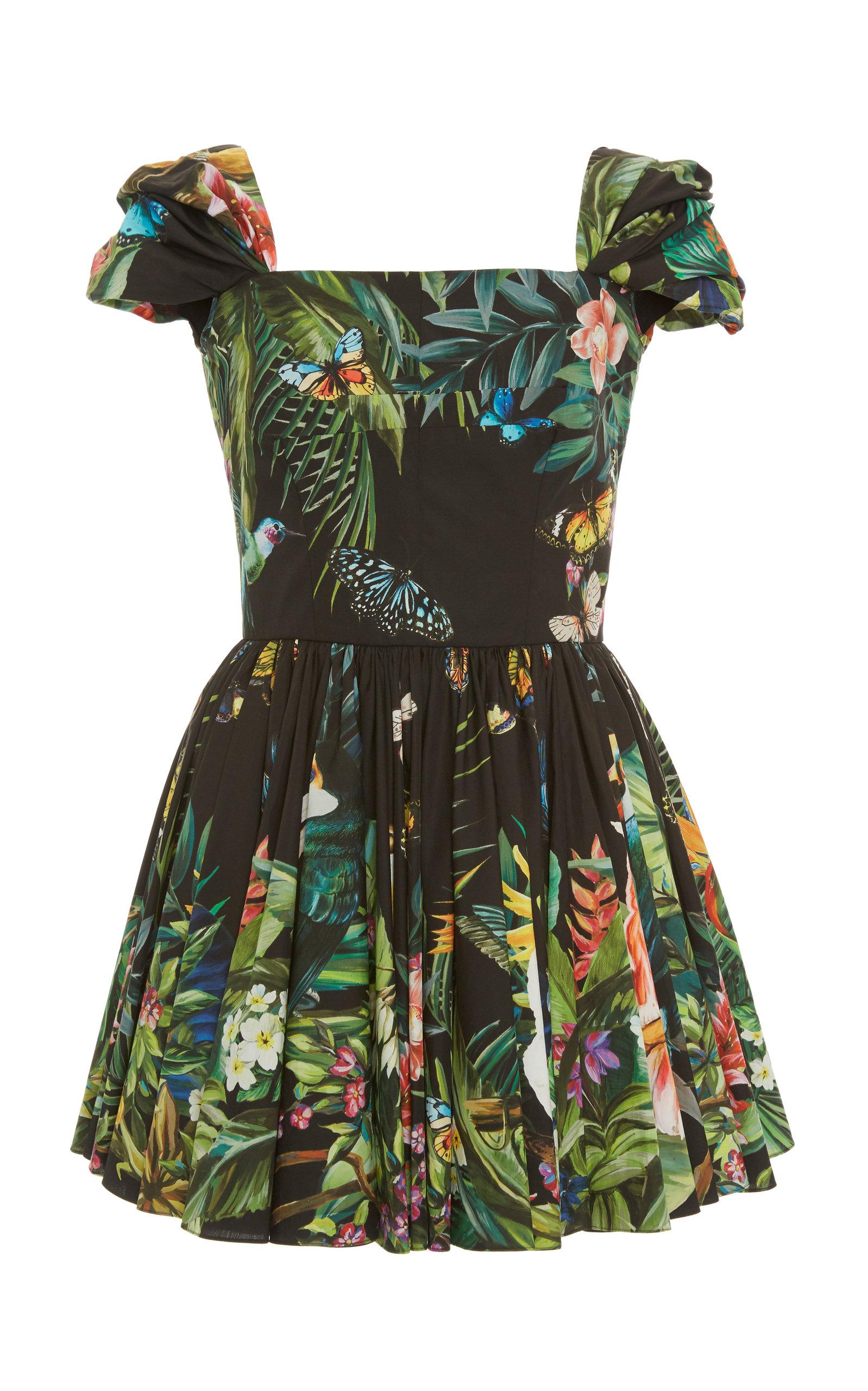 Buy Dolce & Gabbana Printed Cotton-Poplin Mini Dress online, shop Dolce & Gabbana at the best price