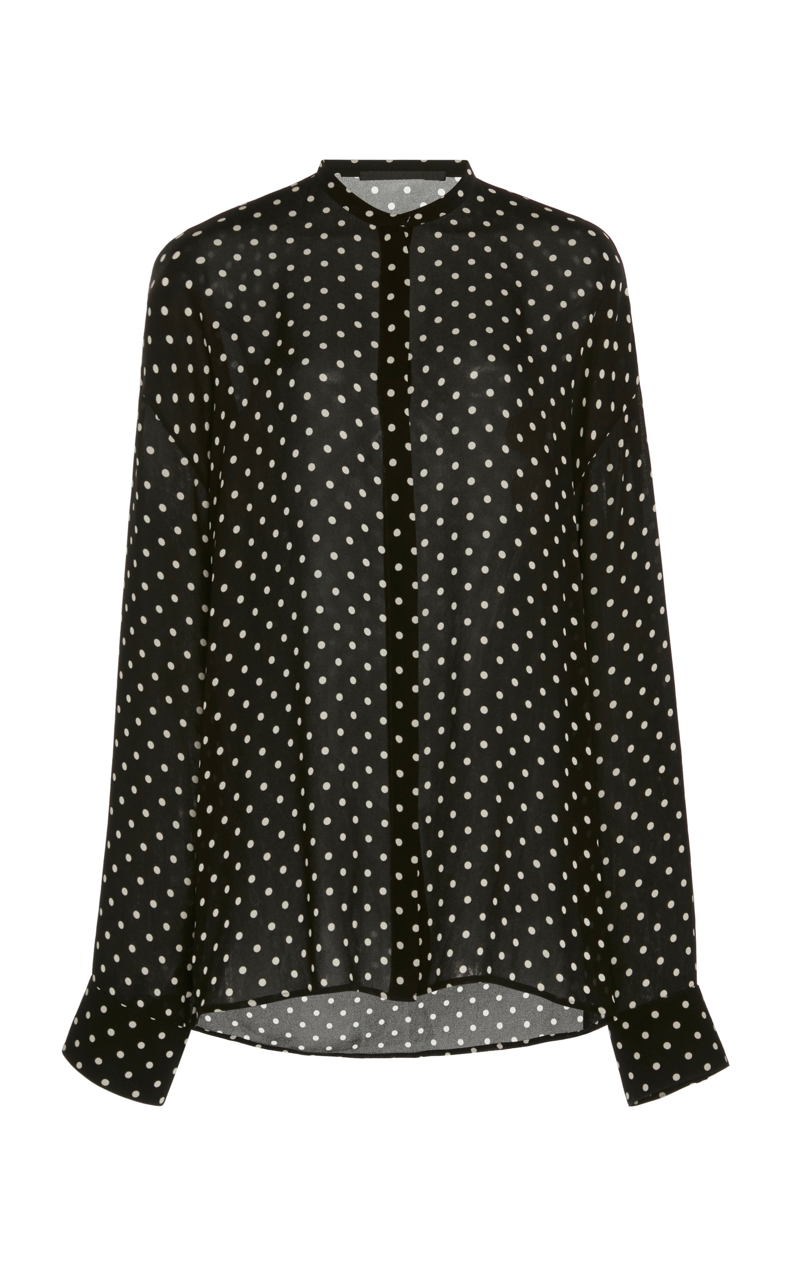 Haider Ackermann OVERSIZED SILK POLKA DOT SHIRT