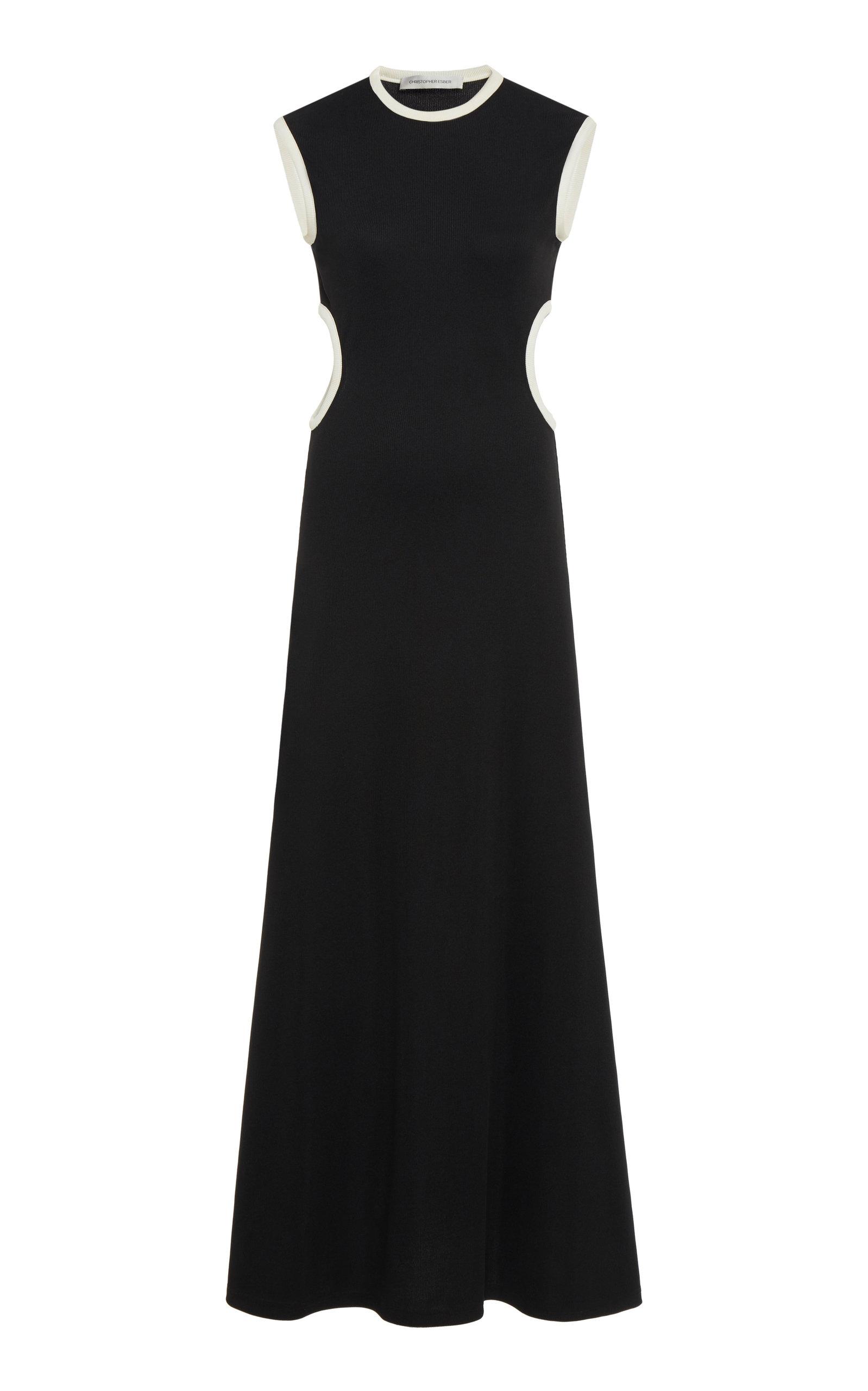 Buy Christopher Esber Fran Cutout Ribbed-Knit Dress online, shop Christopher Esber at the best price
