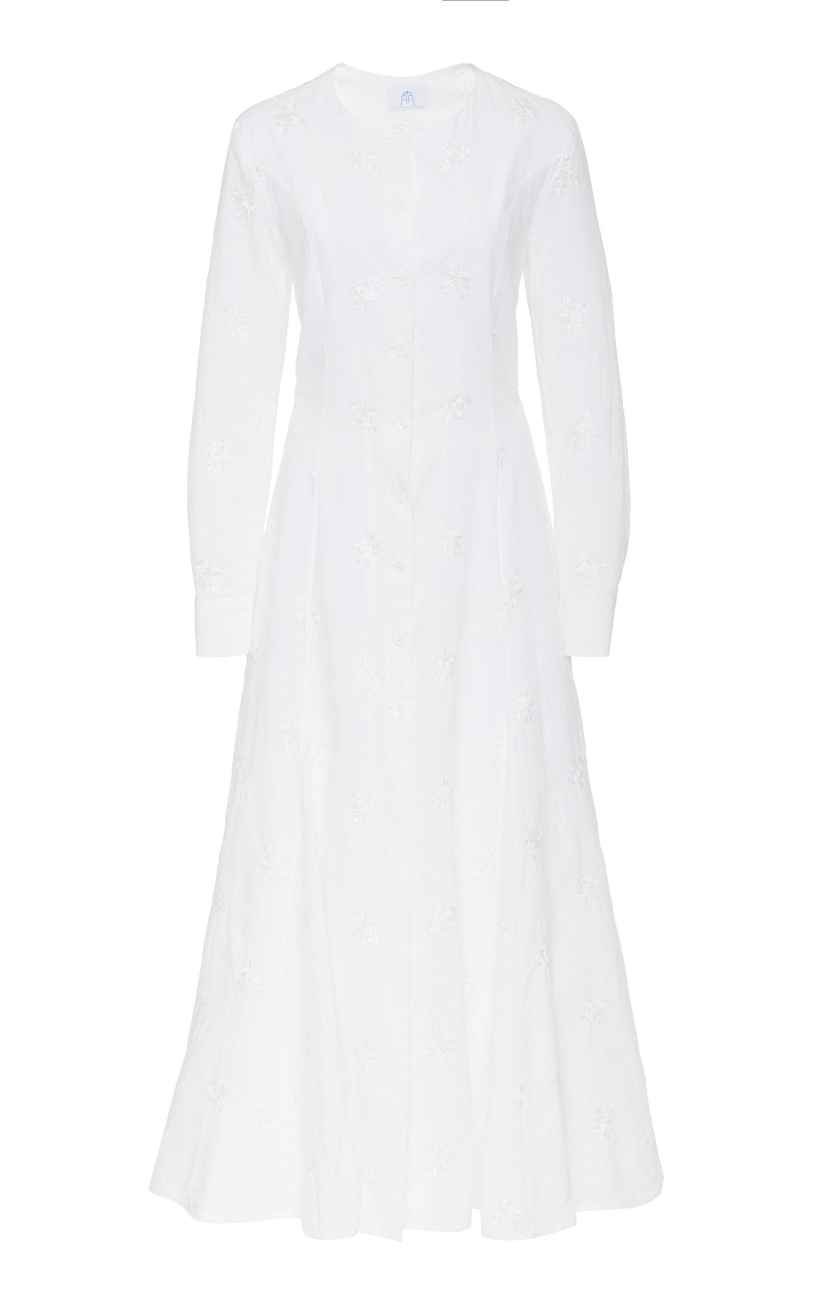 Buy Rebecca de Ravenel Cotton-Poplin Maxi Dress online, shop Rebecca de Ravenel at the best price