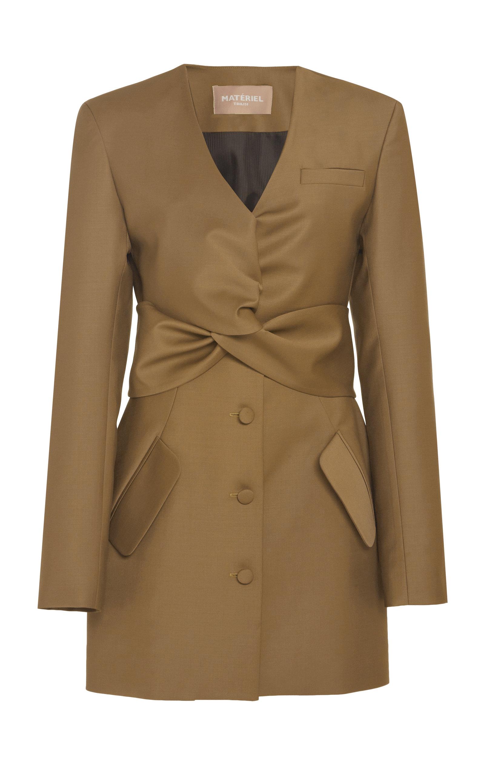 Buy MATÉRIEL Tie-Detailed Wool-Blend Blazer Dress online, shop MATÉRIEL at the best price