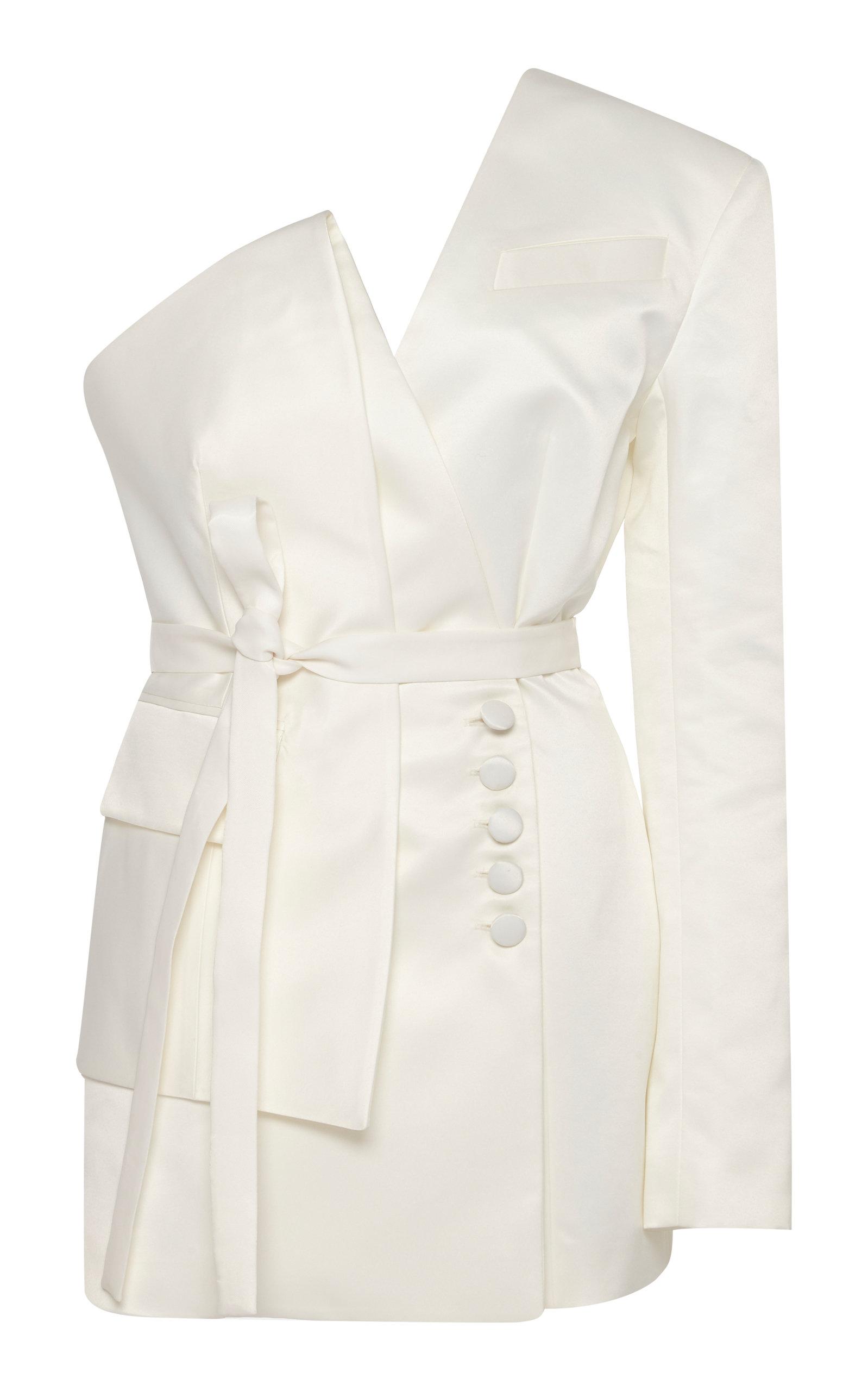 Buy MATÉRIEL One Shoulder Tie-Detailed Blazer online, shop MATÉRIEL at the best price