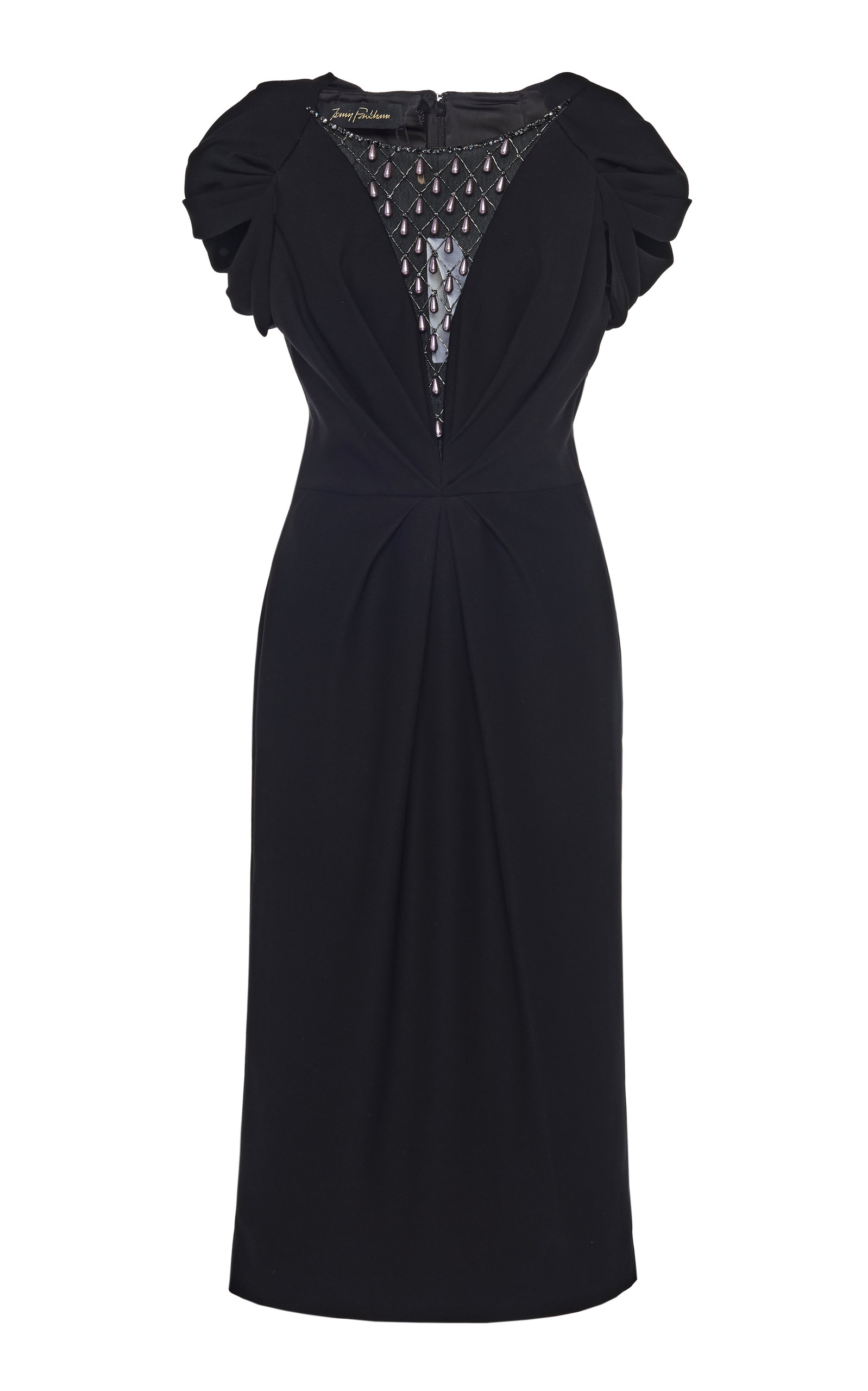 Buy Jenny Packham Ruched Teardrop-Embellished Crepe Dress online, shop Jenny Packham at the best price