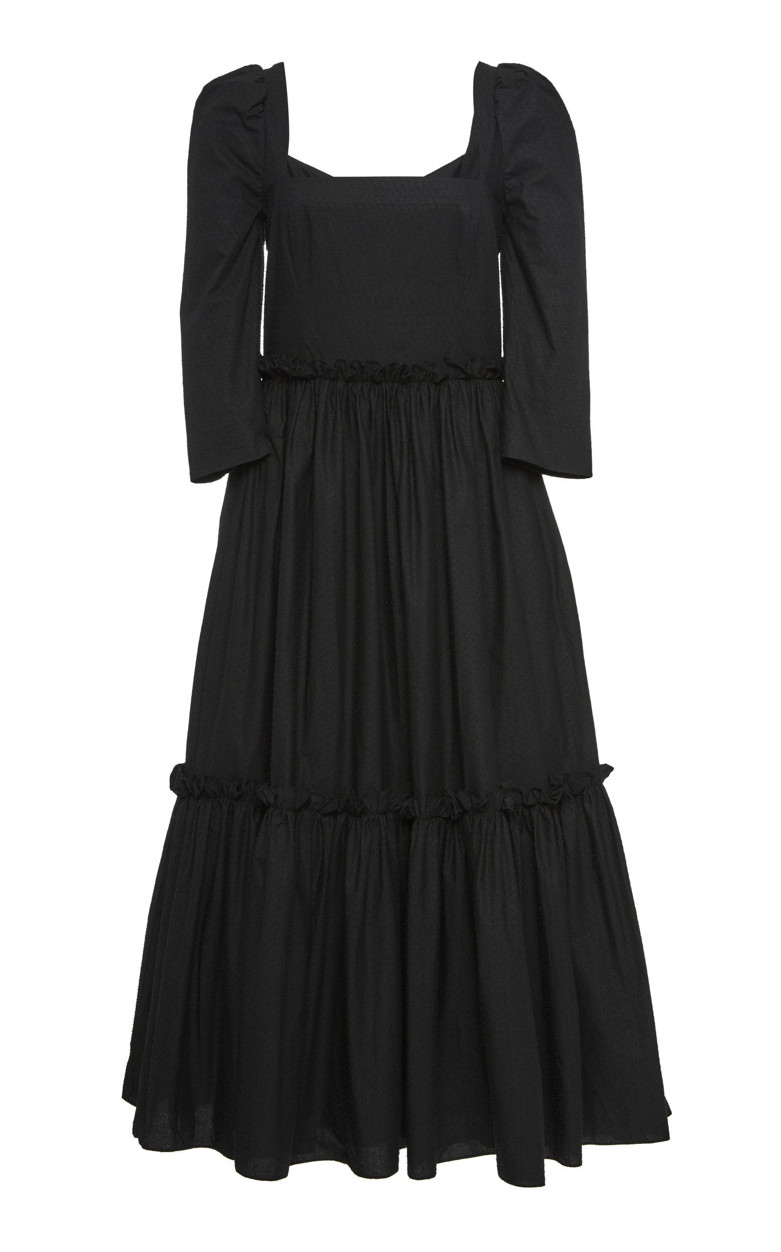 Women's Blue Hill Cotton-Poplin Midi Dress