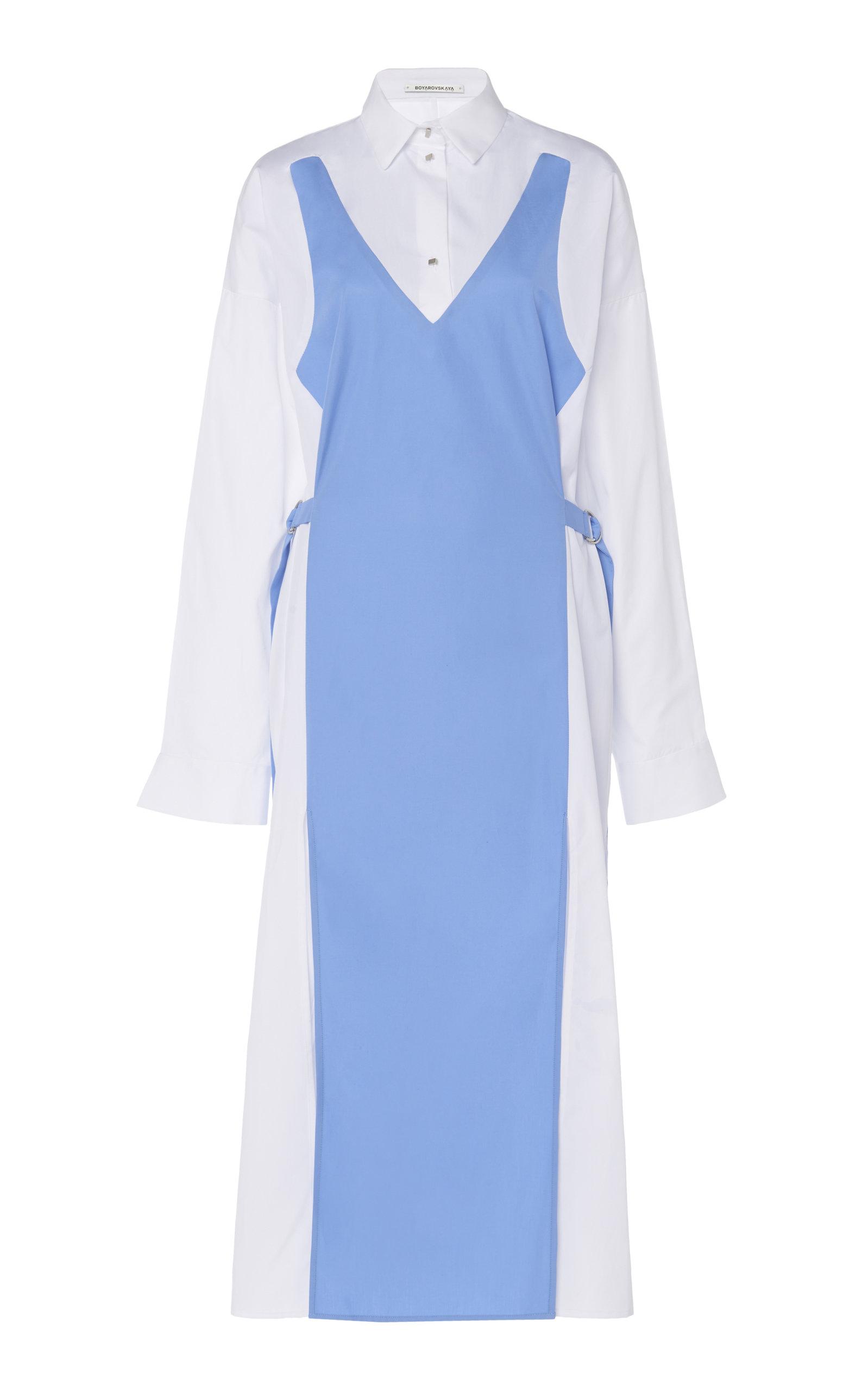 Buy Boyarovskaya Dual-Cotton Shirt Dress online, shop Boyarovskaya at the best price