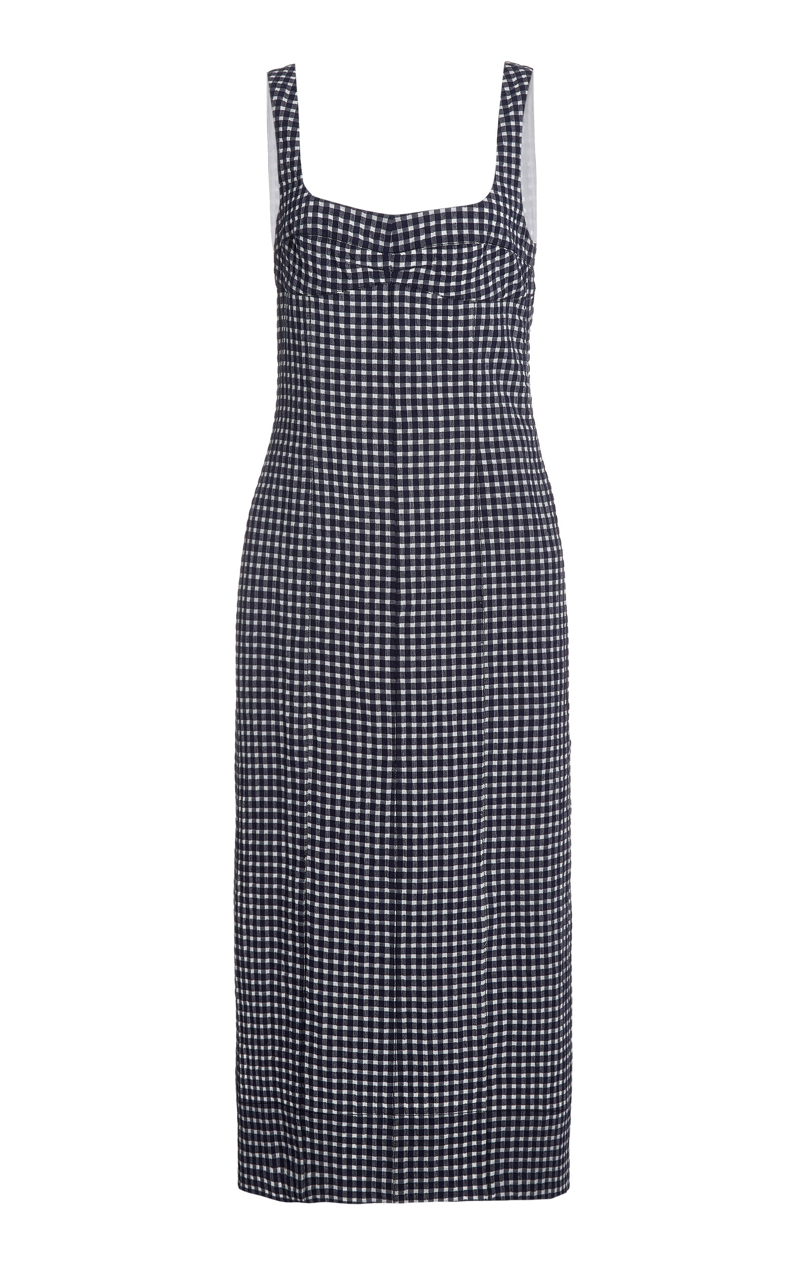 Buy Three Graces London Tomasina Gingham Cotton Dress online, shop Three Graces London at the best price