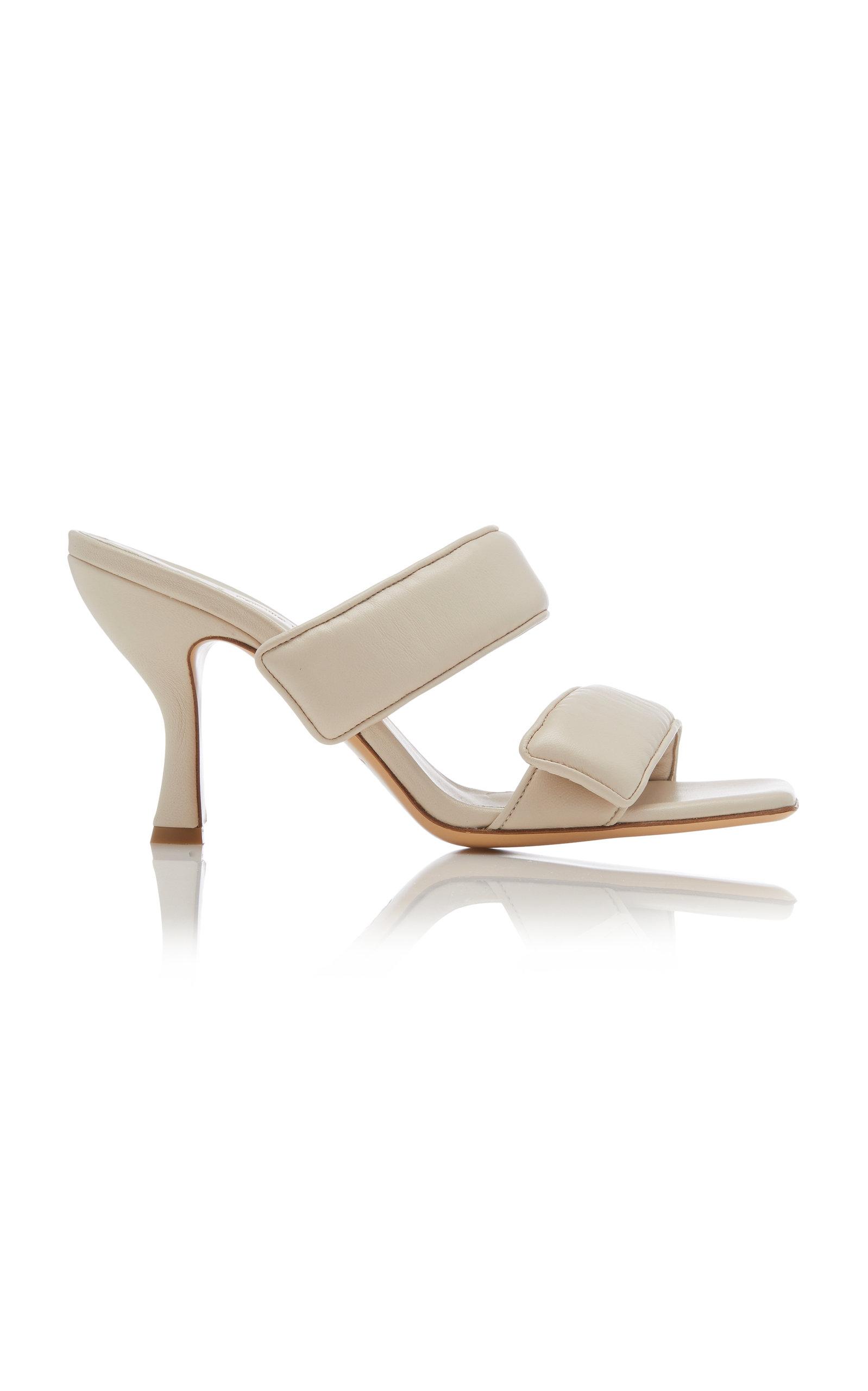 GIA x Pernille Teisbaek - Women's Padded Leather Sandals - Brown/tan - Moda Operandi