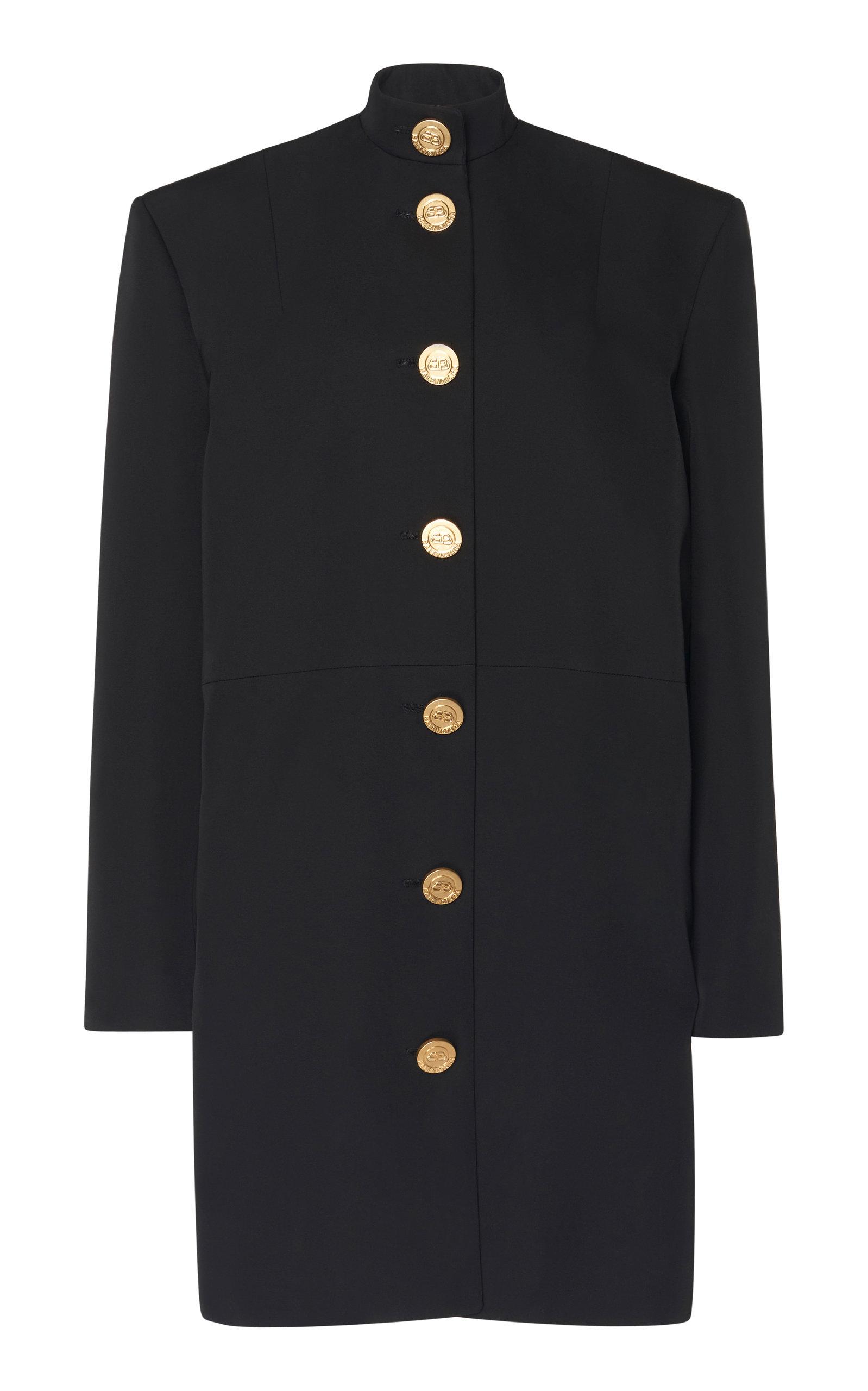 Buy Balenciaga Campaign Button-Detailed Barathea Dress online, shop Balenciaga at the best price