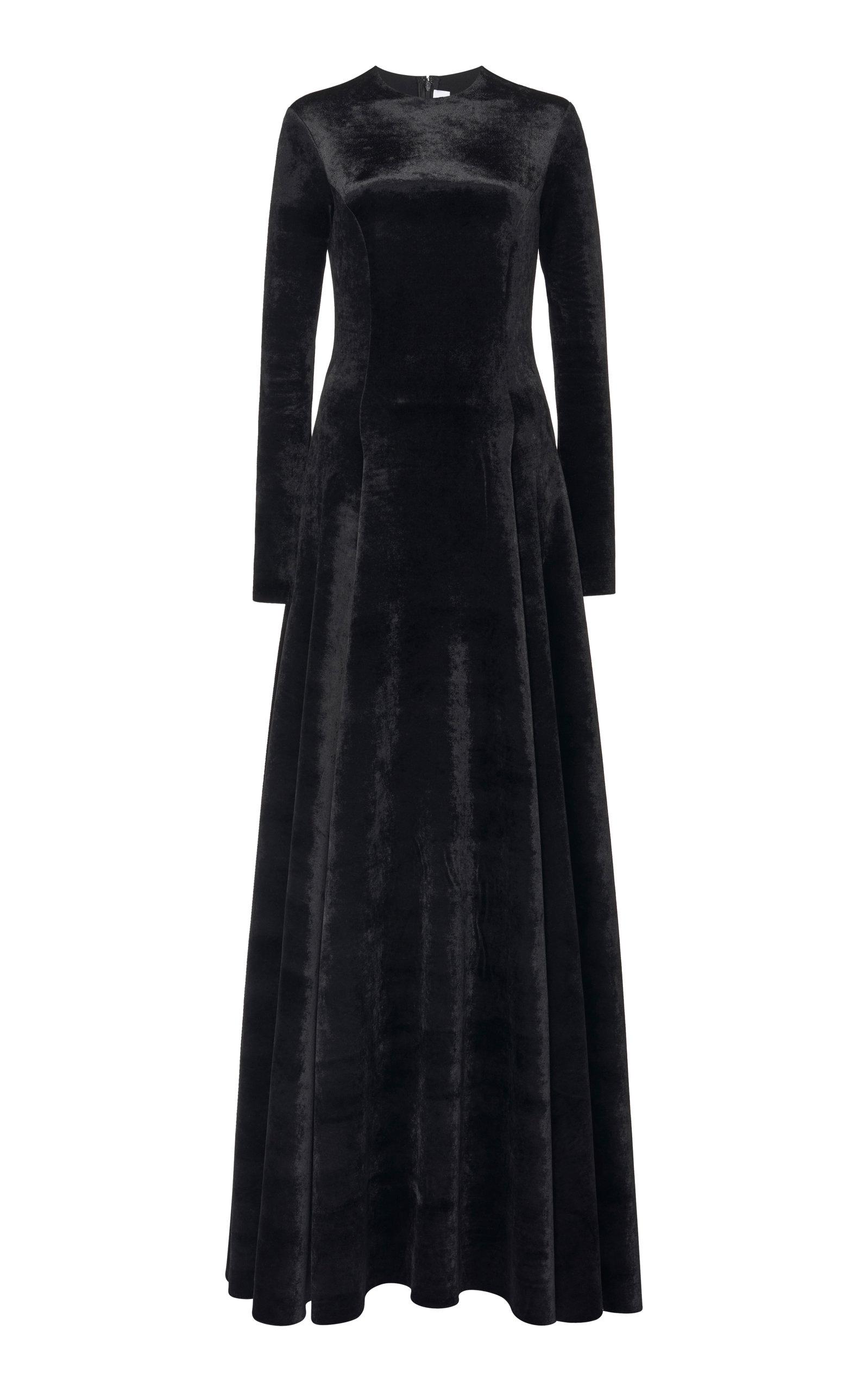 Buy Balenciaga Bonded Velvet Maxi Dress online, shop Balenciaga at the best price