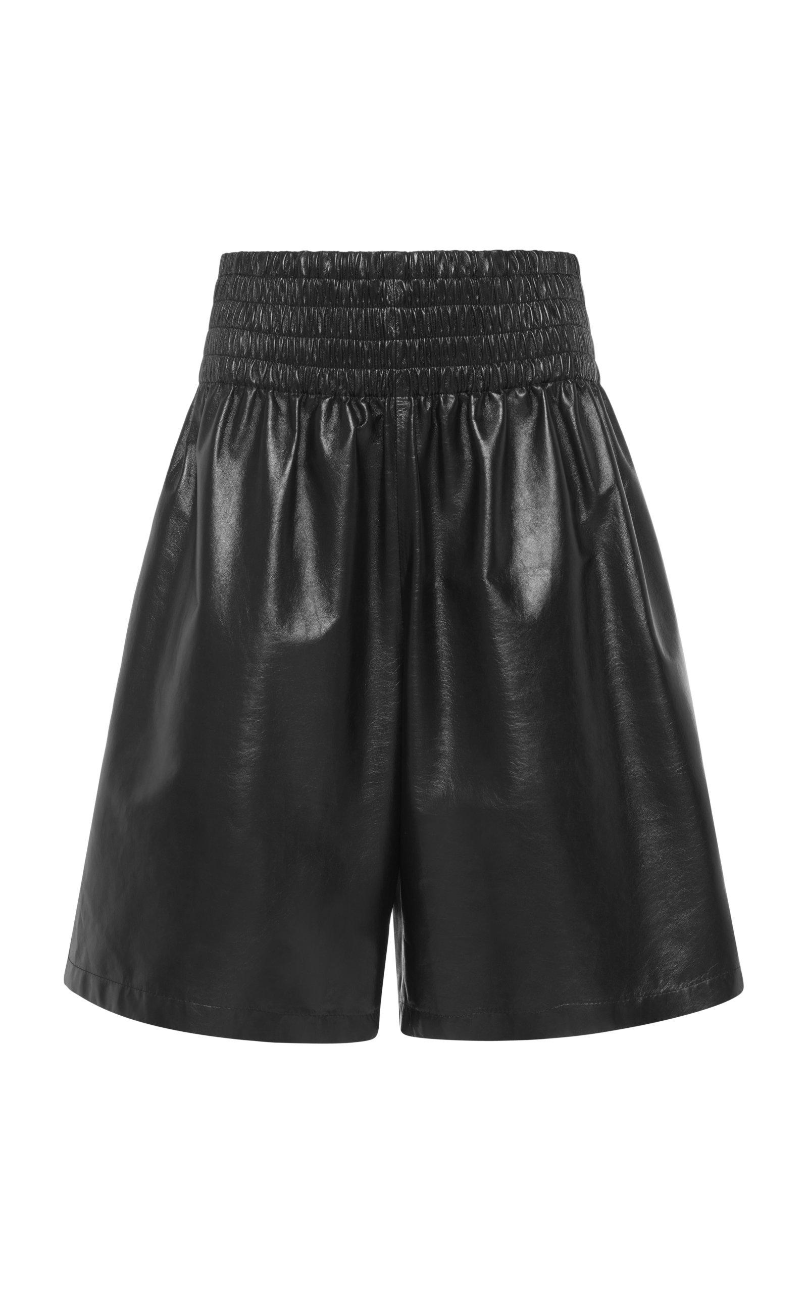 Bottega Veneta – Women's Leather Shorts – Black/yellow – Moda Operandi