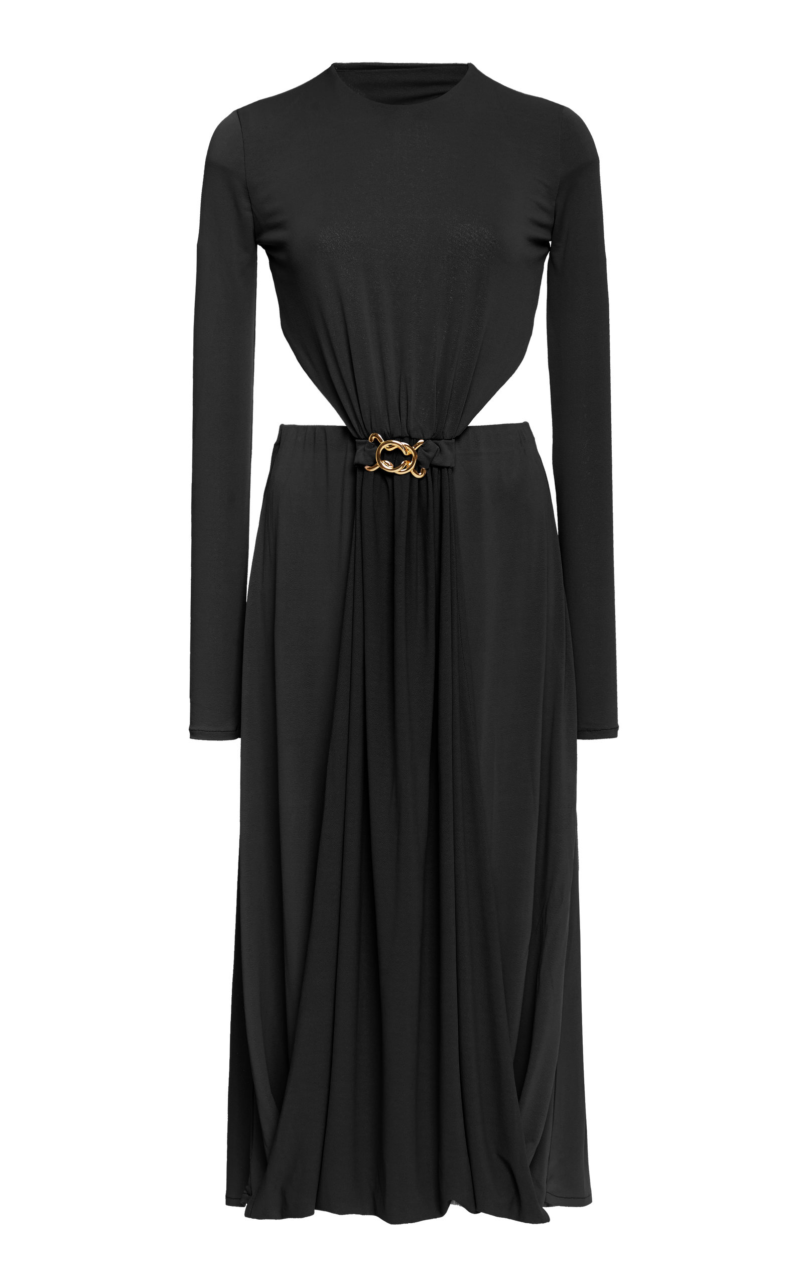 Buy DoDo Bar Or Tina Buckle-Detailed Cutout Crepe Dress online, shop DoDo Bar Or at the best price
