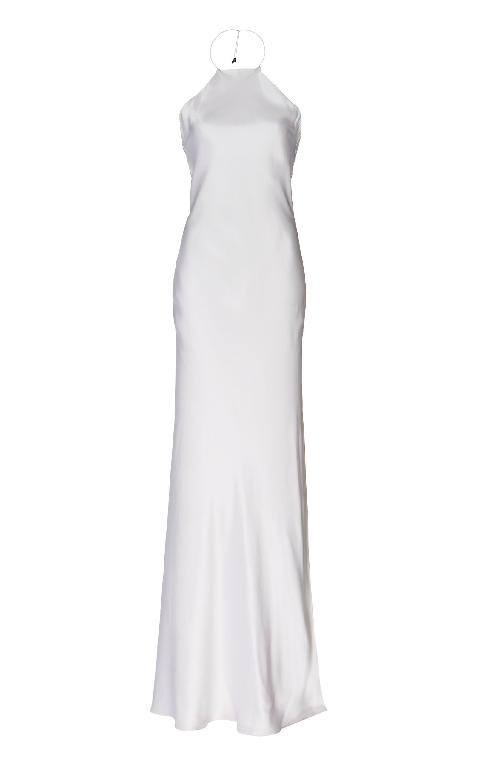 Buy Michael Lo Sordo Silk-Satin Halter Gown online, shop Michael Lo Sordo at the best price