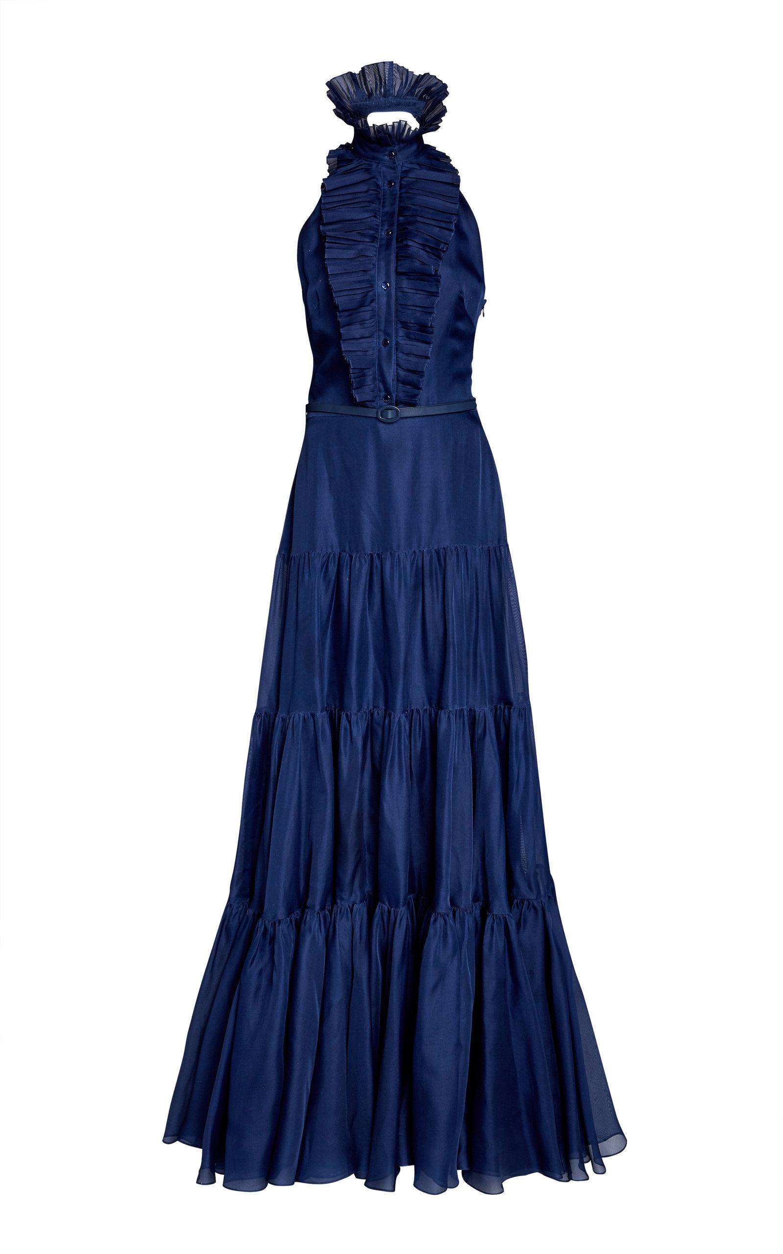 Buy Ralph Lauren Emilia Belted Poplin Gown online, shop Ralph Lauren at the best price