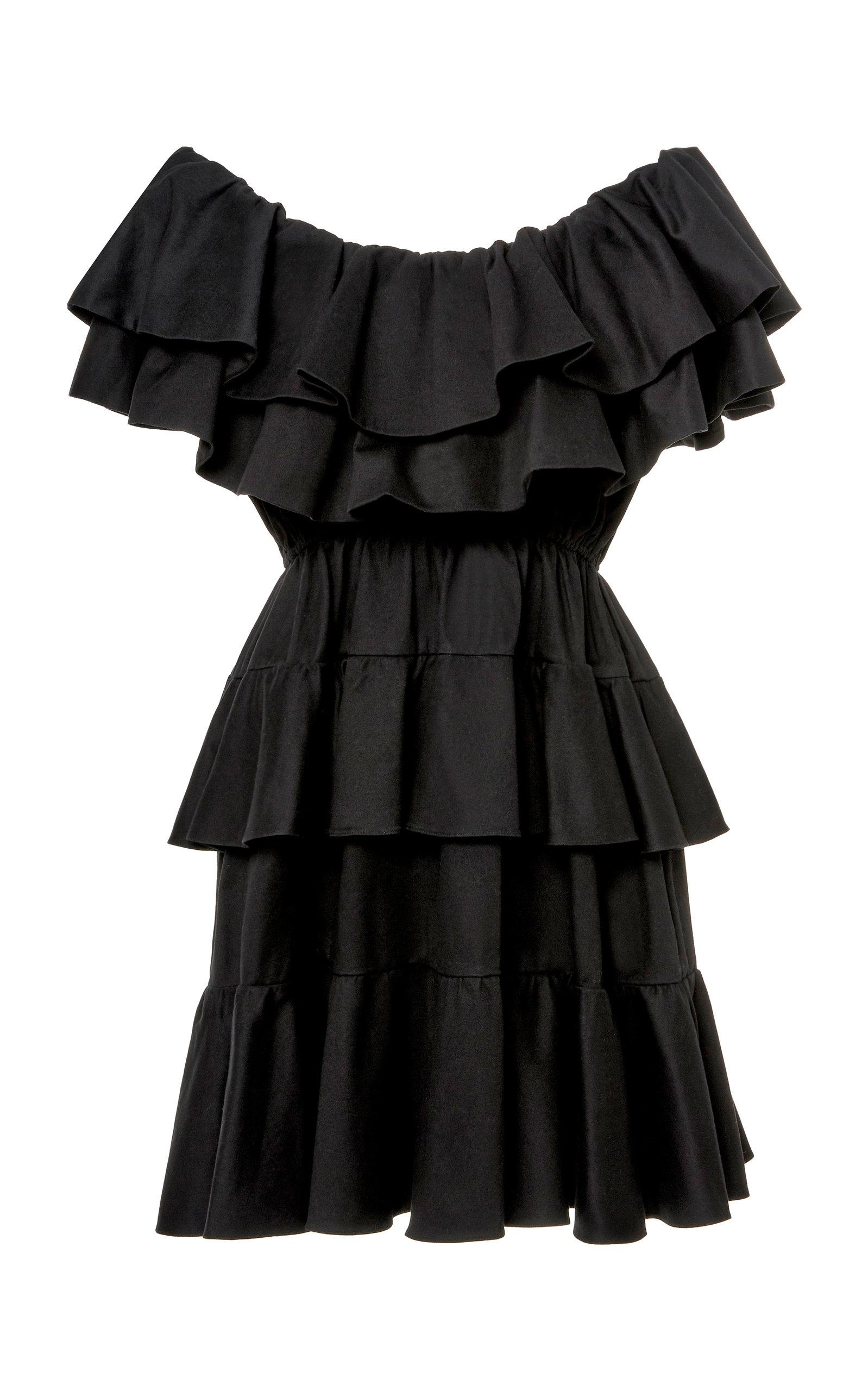 Buy Rhode Dotty Tiered Cotton-Jersey Mini Dress online, shop Rhode at the best price