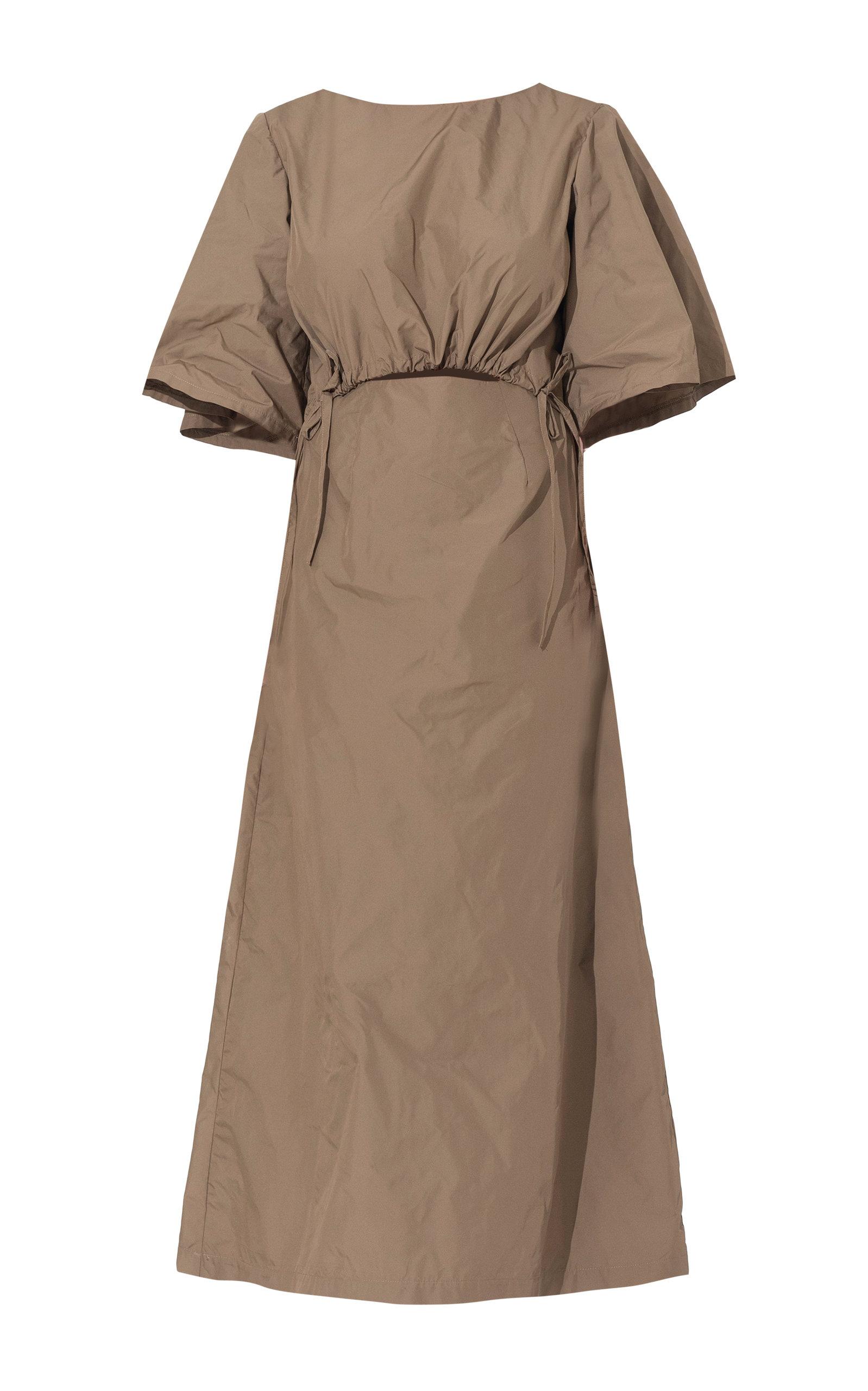 Buy Wynn Hamlyn Scrunch Crepe Midi Dress online, shop Wynn Hamlyn at the best price