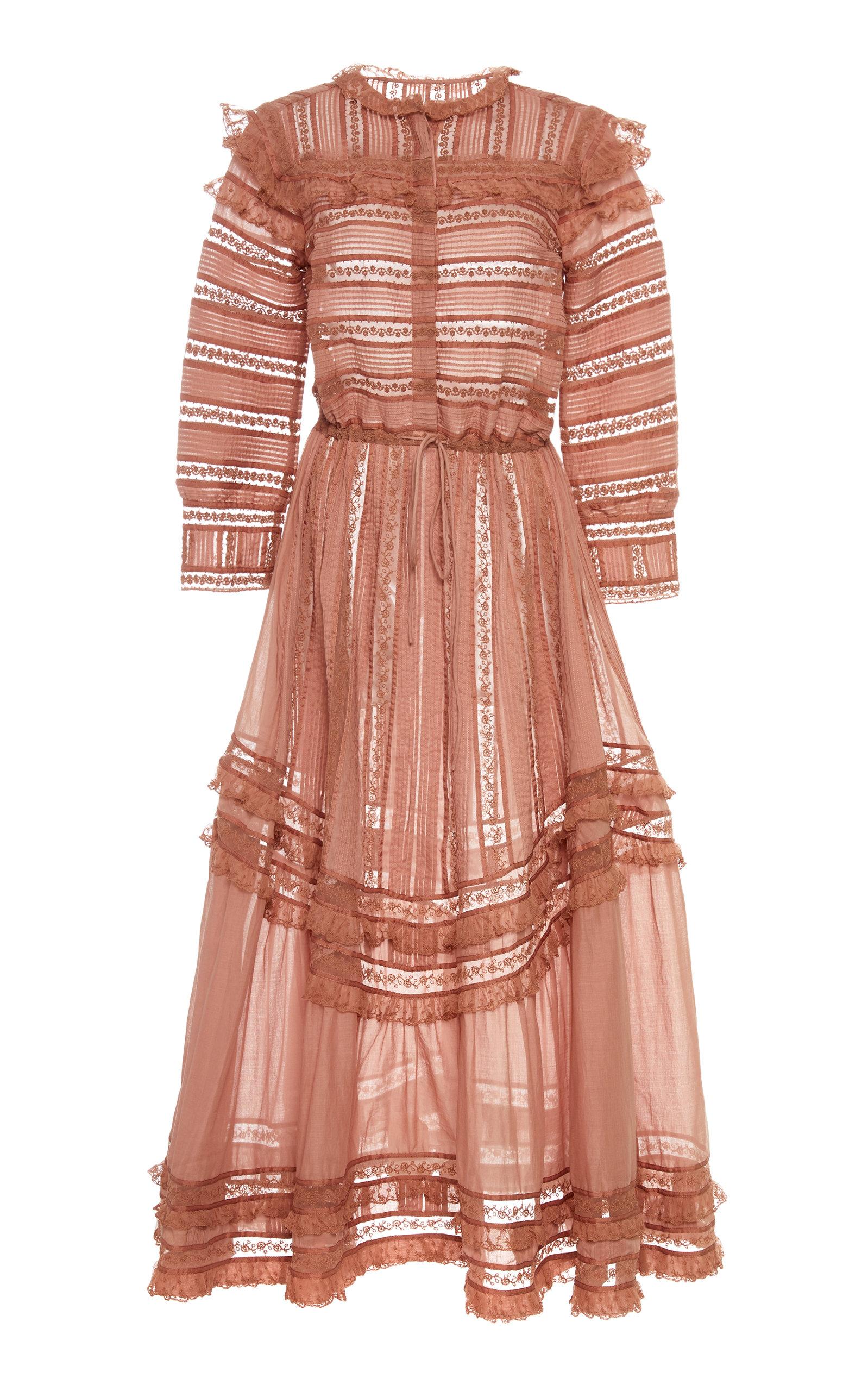 Buy Alexis Dakira Frilled Cotton-Blend Dress online, shop Alexis at the best price