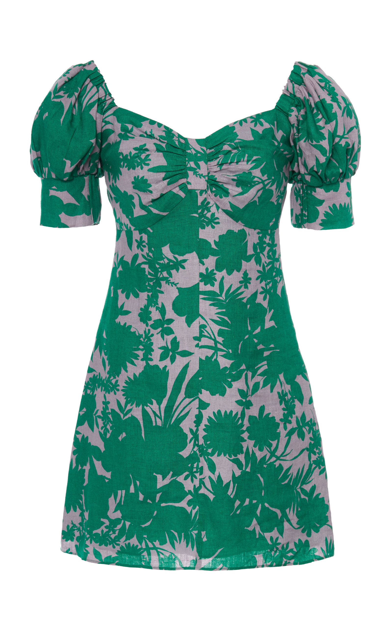 Buy Alexis Pilou Printed Linen Mini Dress online, shop Alexis at the best price