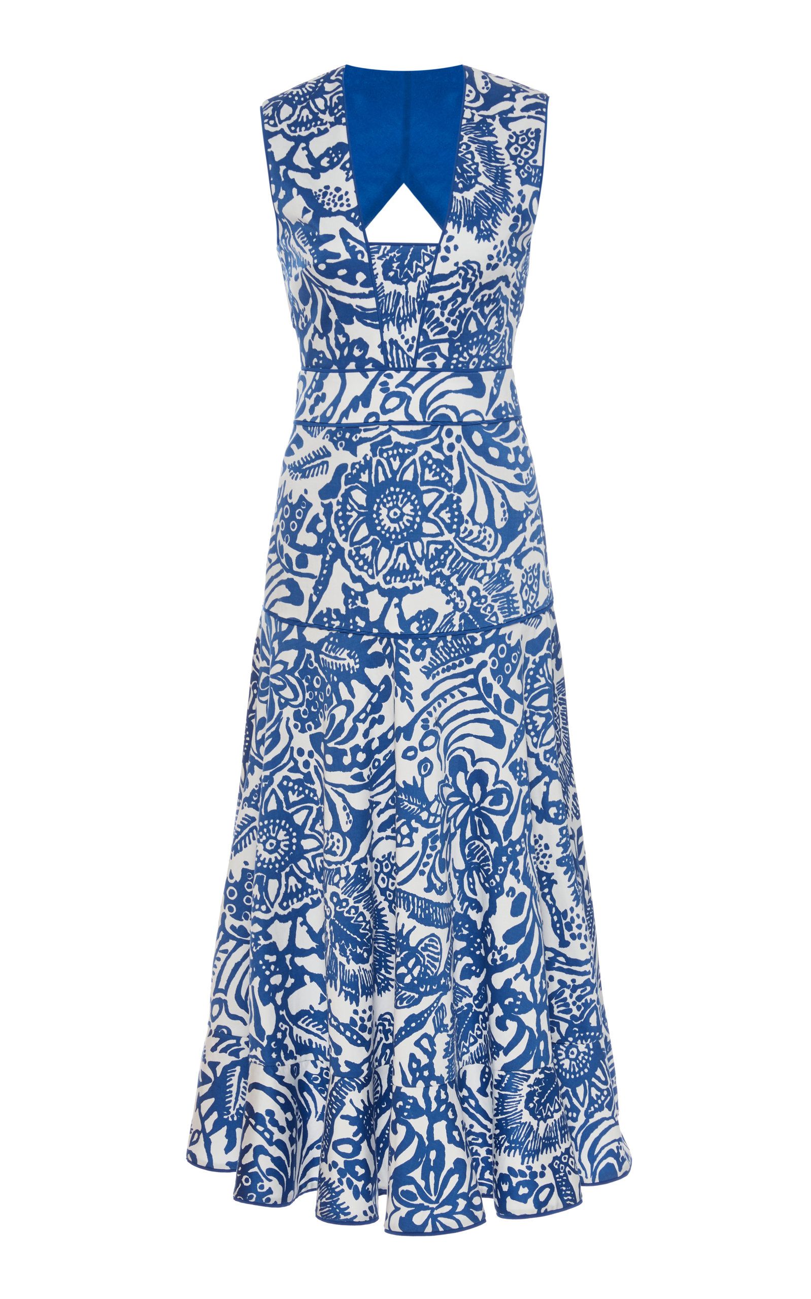 Alexis Women's Marianna Print Dress In Blue,brown