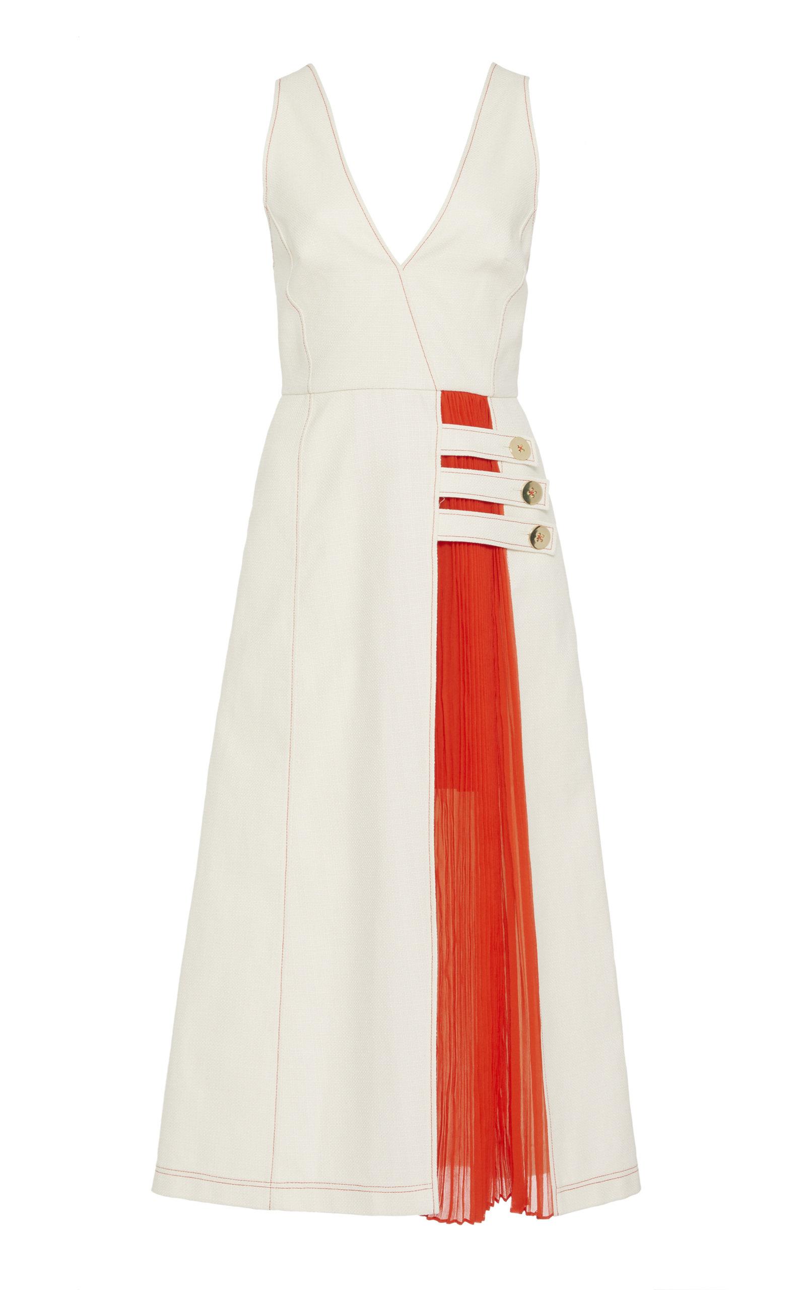 Buy Alexis Ilan Two-Tone Cotton-Blend Dress online, shop Alexis at the best price