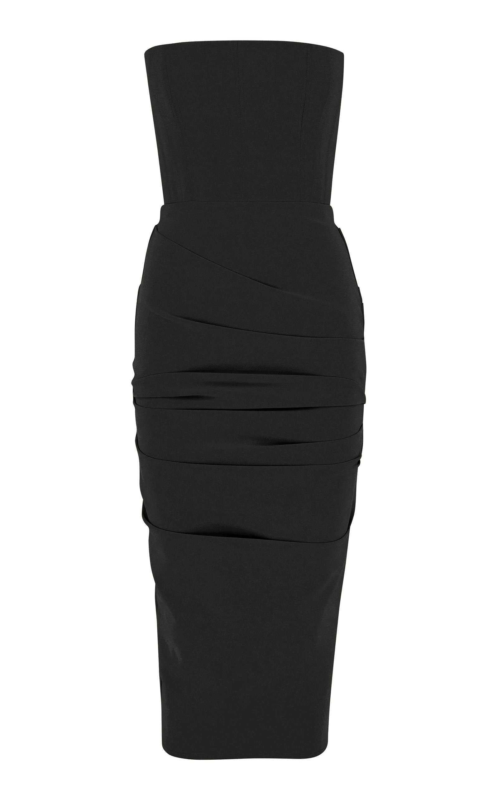 Buy Alex Perry Exclusive Mena Ruched Stretch Crepe Midi Dress online, shop Alex Perry at the best price