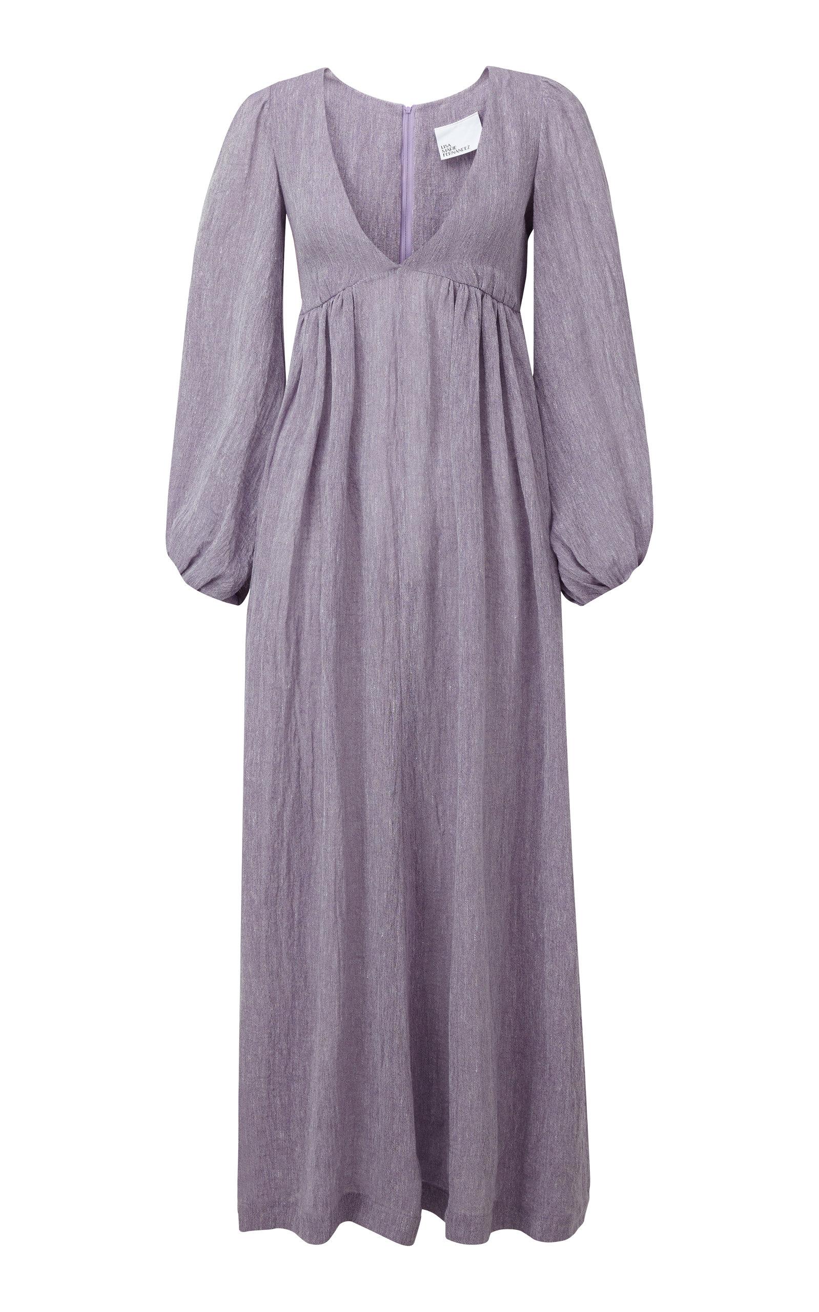 Buy Lisa Marie Fernandez Carolyn Bow-Embellished Linen-Blend Maxi Dress online, shop Lisa Marie Fernandez at the best price