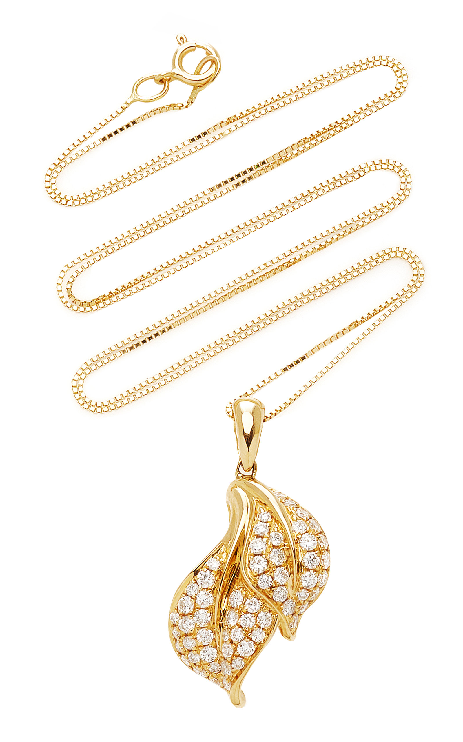 Women's Spring Yellow-Gold and White Diamond Necklace