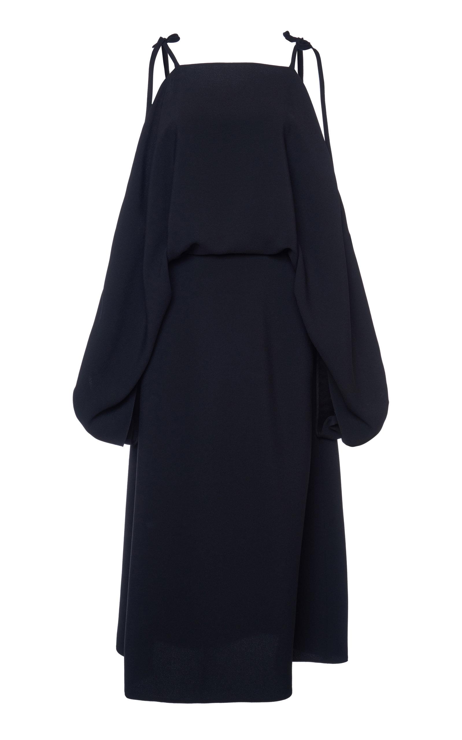 Buy Prada Cold Shoulder Tie Detail Midi Dress online, shop Prada at the best price