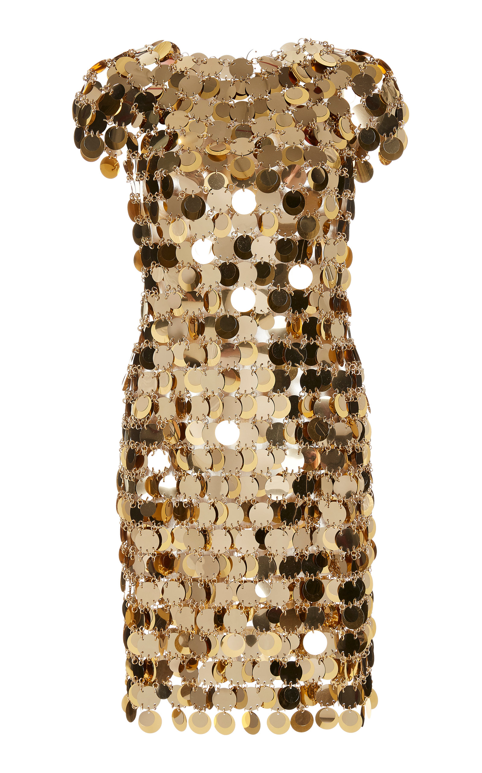 Buy Paco Rabanne Chain Mail Sequined Mini Dress online, shop Paco Rabanne at the best price