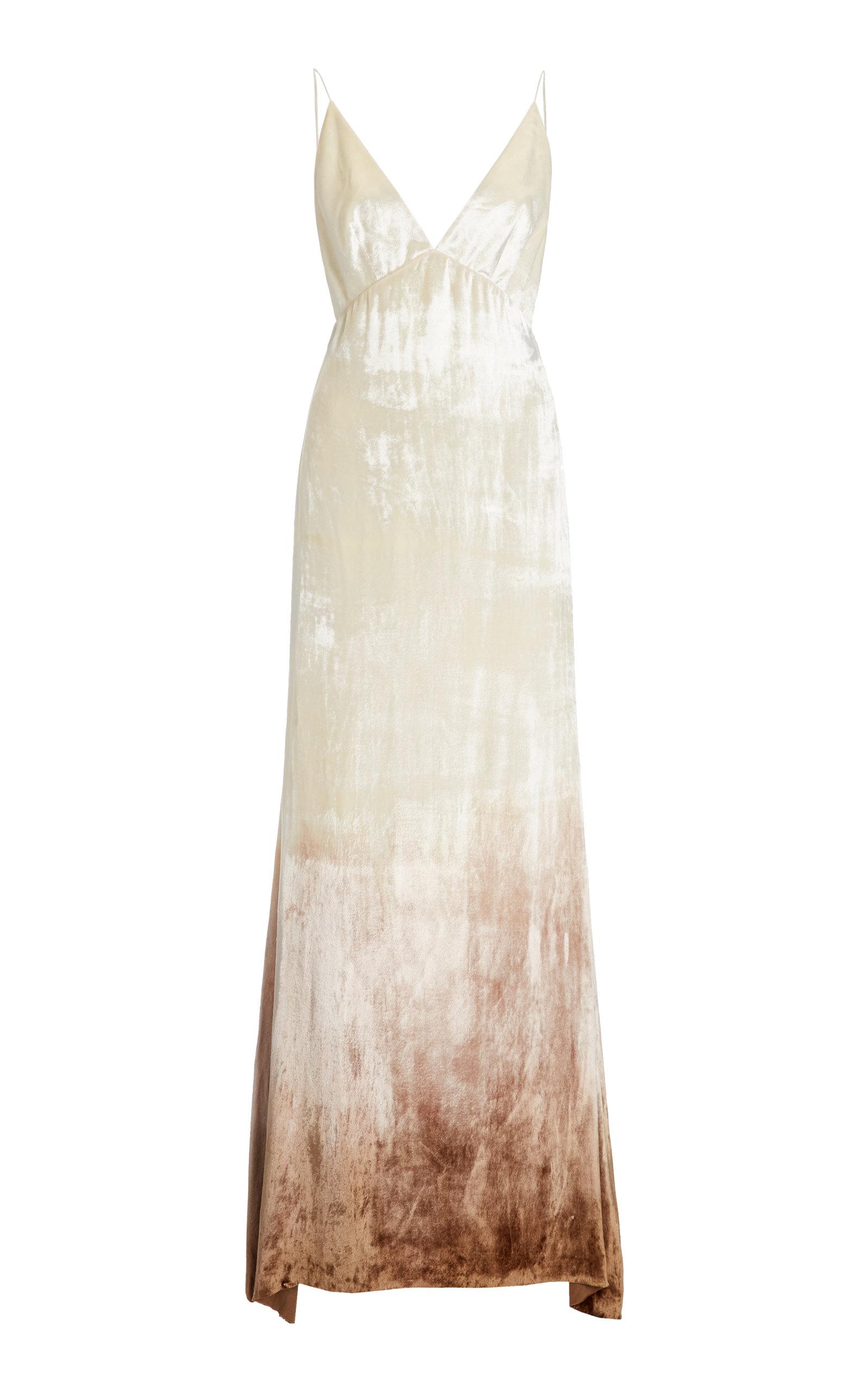 Danielle Frankel - Women's Imogen Ombré Velvet Gown - White - Moda Operandi