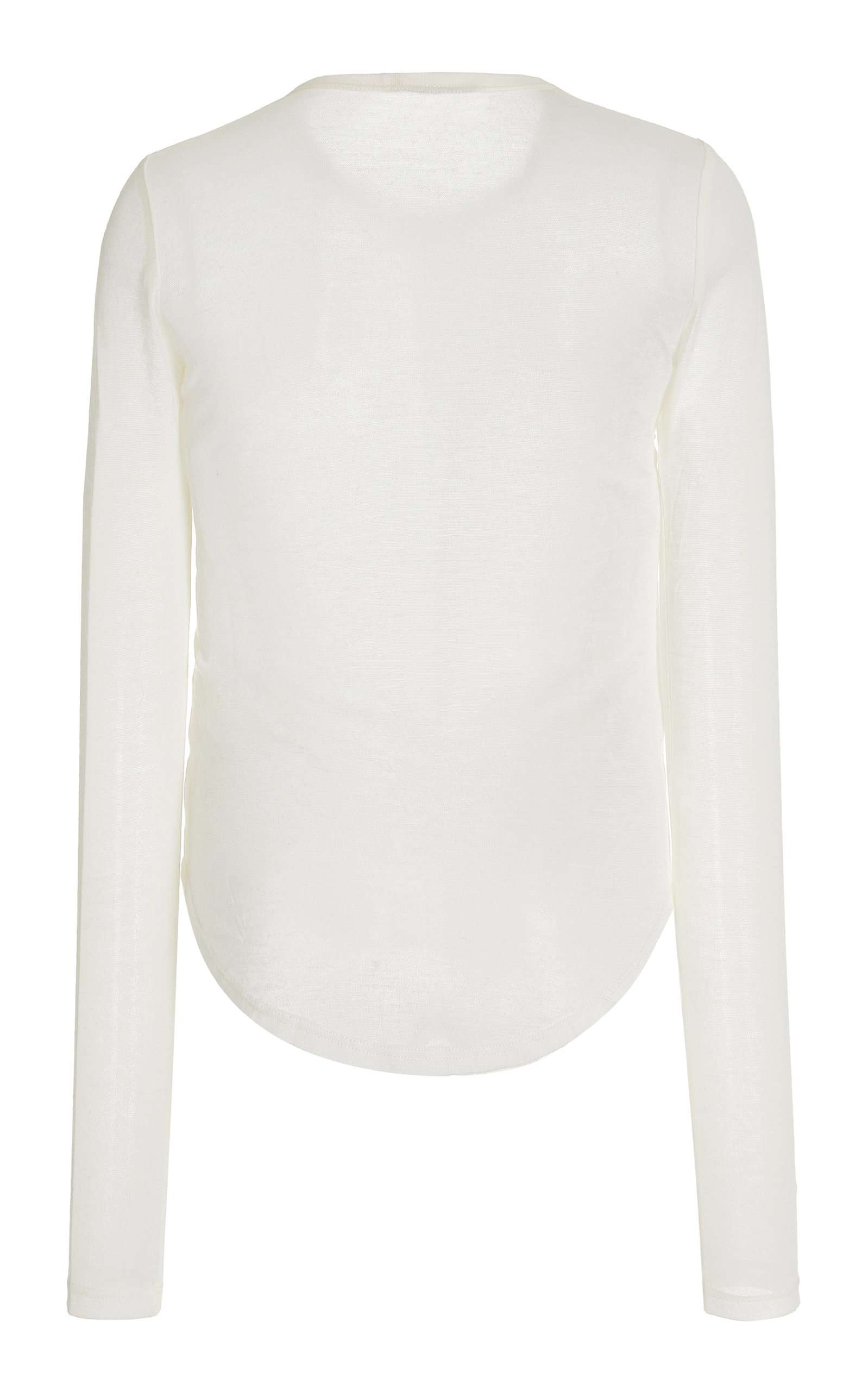 Romy Long Sleeve Slim Tee By Frances De Lourdes   Moda Operandi