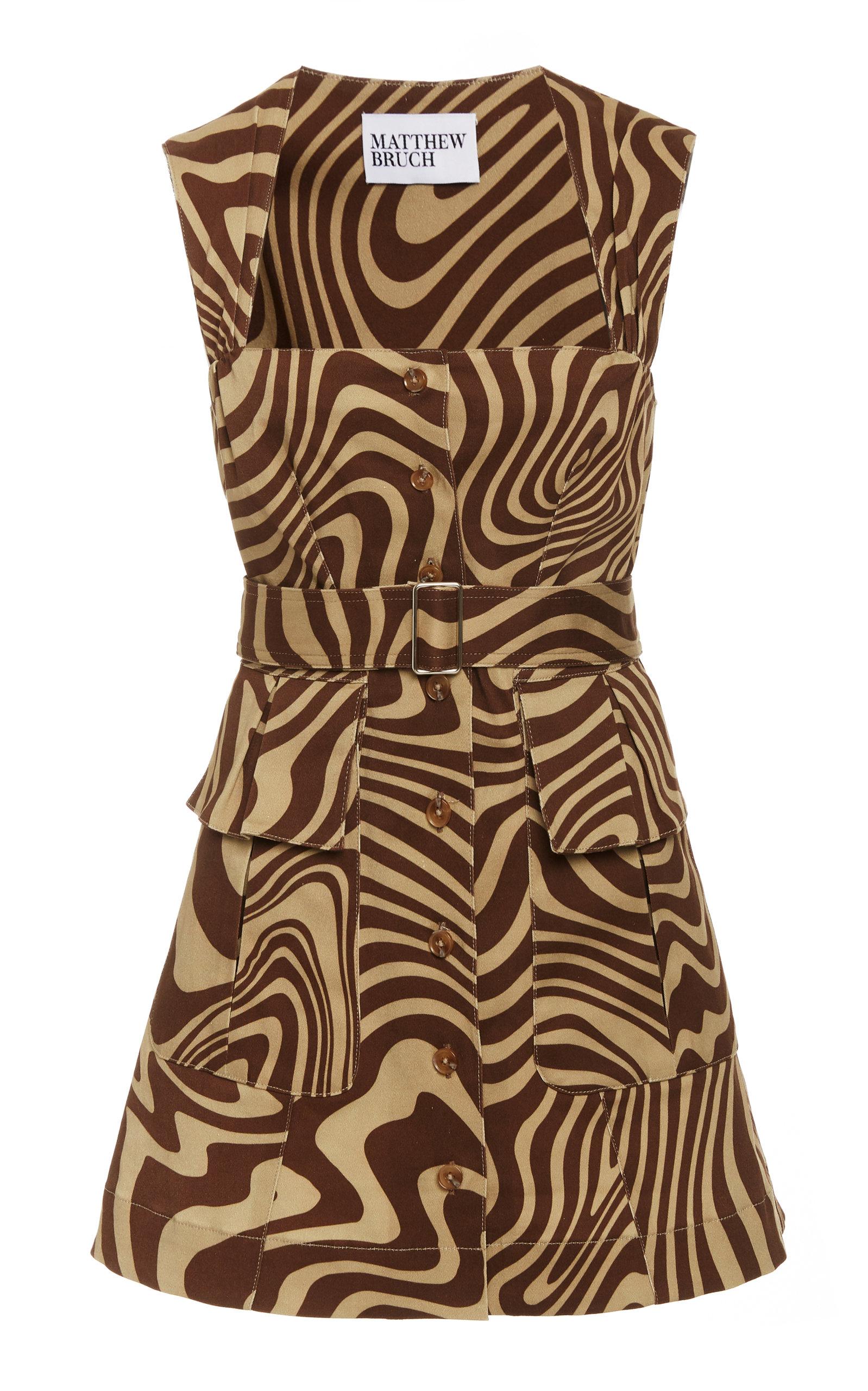 Buy Matthew Bruch Apron Cargo Cotton Twill Mini Dress online, shop Matthew Bruch at the best price