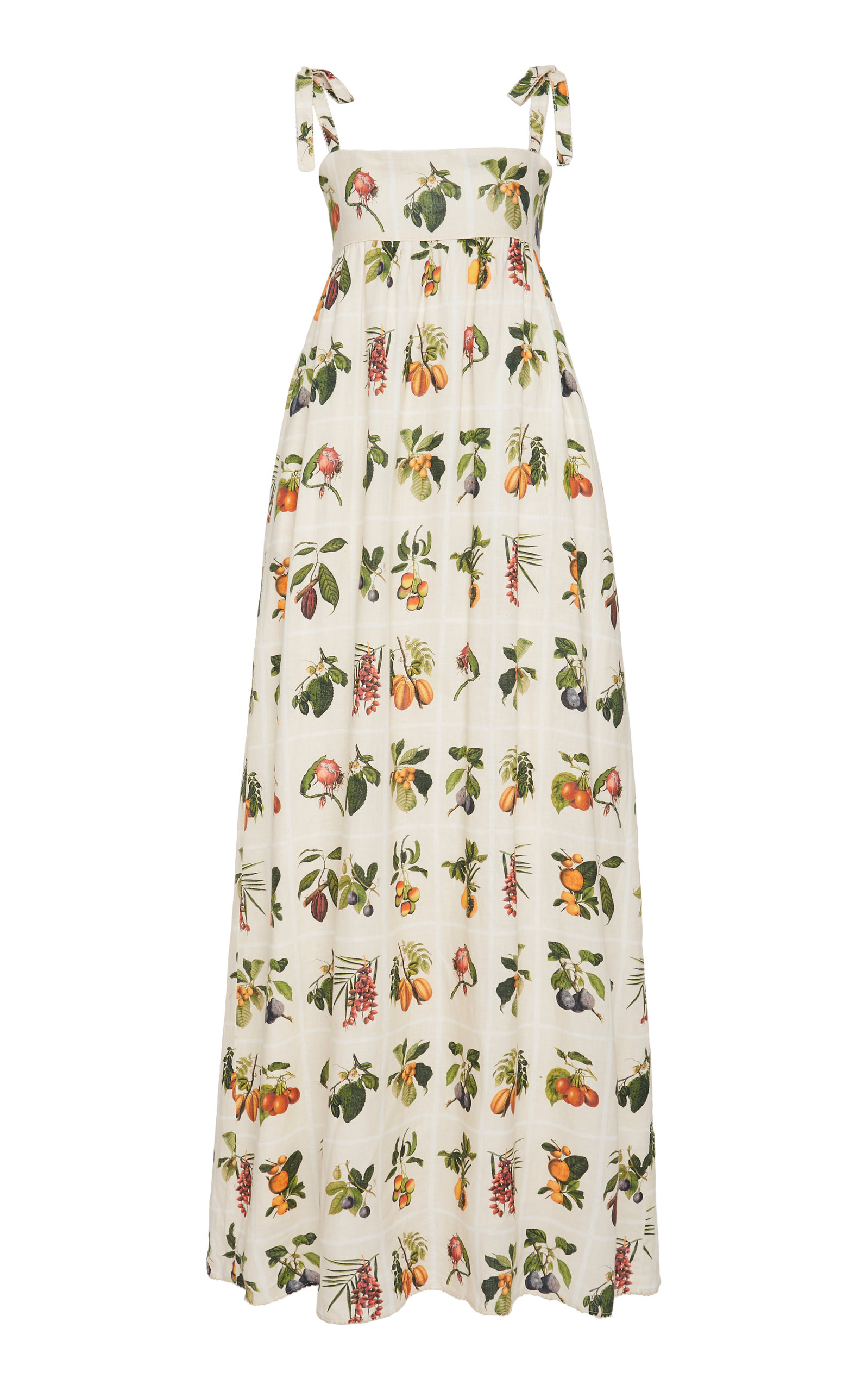Buy Agua by Agua Bendita Verbena Frutas Linen Maxi Dress online, shop Agua by Agua Bendita at the best price