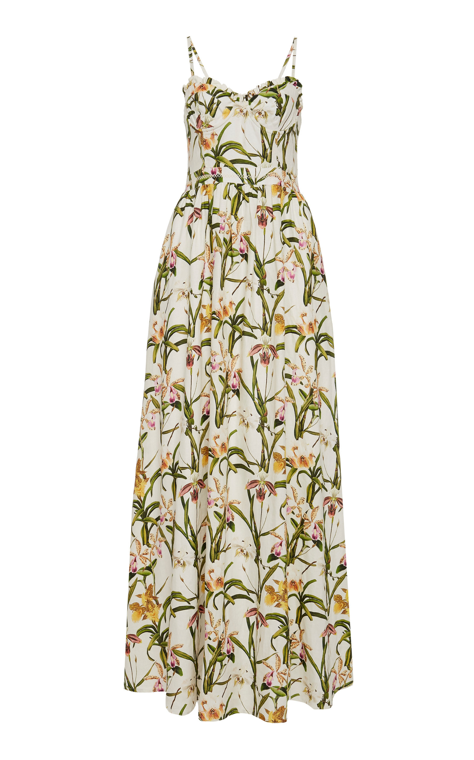 Buy Agua by Agua Bendita Acacia Floral Maxi Dress online, shop Agua by Agua Bendita at the best price