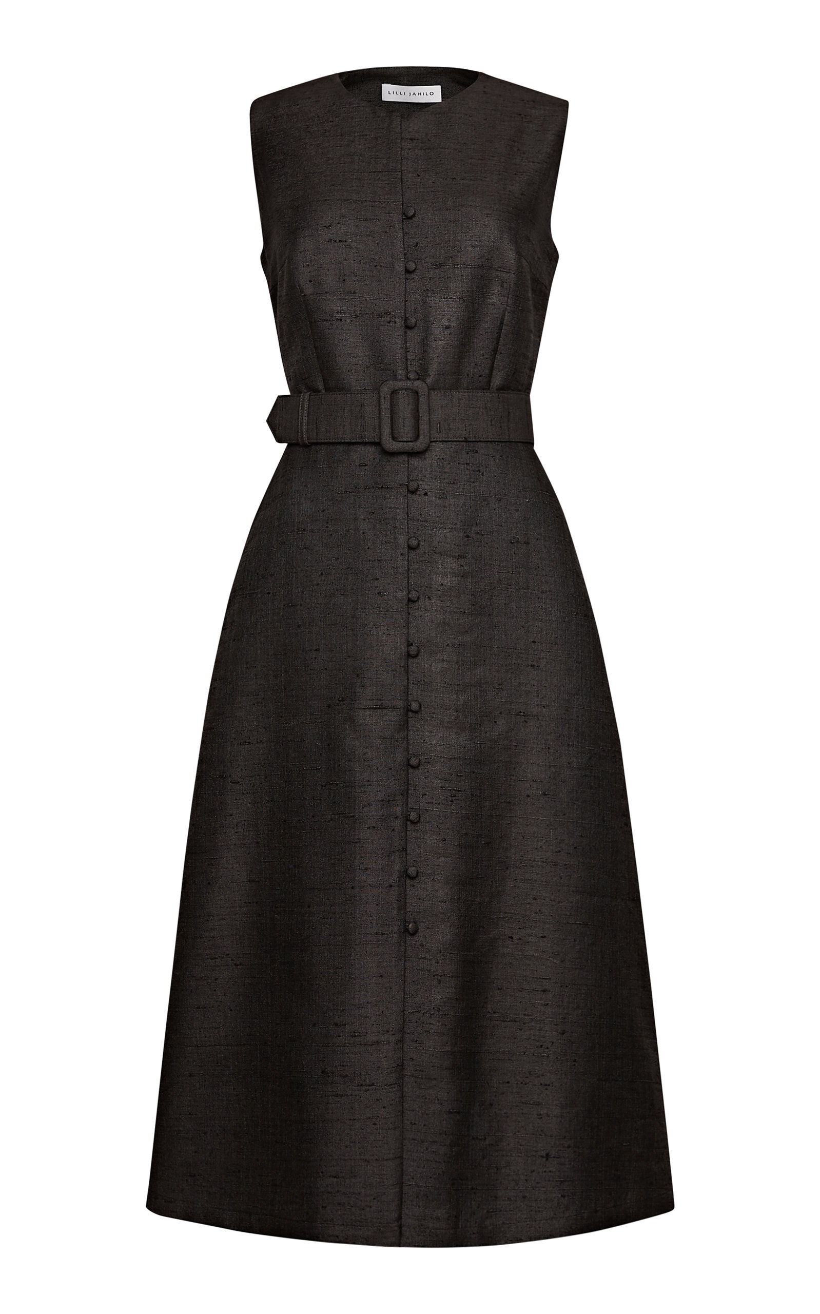 Buy Lilli Jahilo Winslet Silk Blend Button-Up Dress With Belt online, shop Lilli Jahilo at the best price