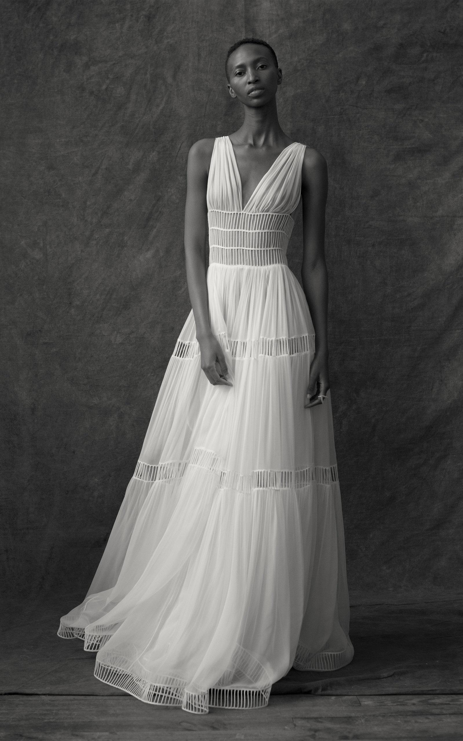 Buy Maison Rabih Kayrouz Silk Sleeveless Cut Out Gown online, shop Maison Rabih Kayrouz at the best price