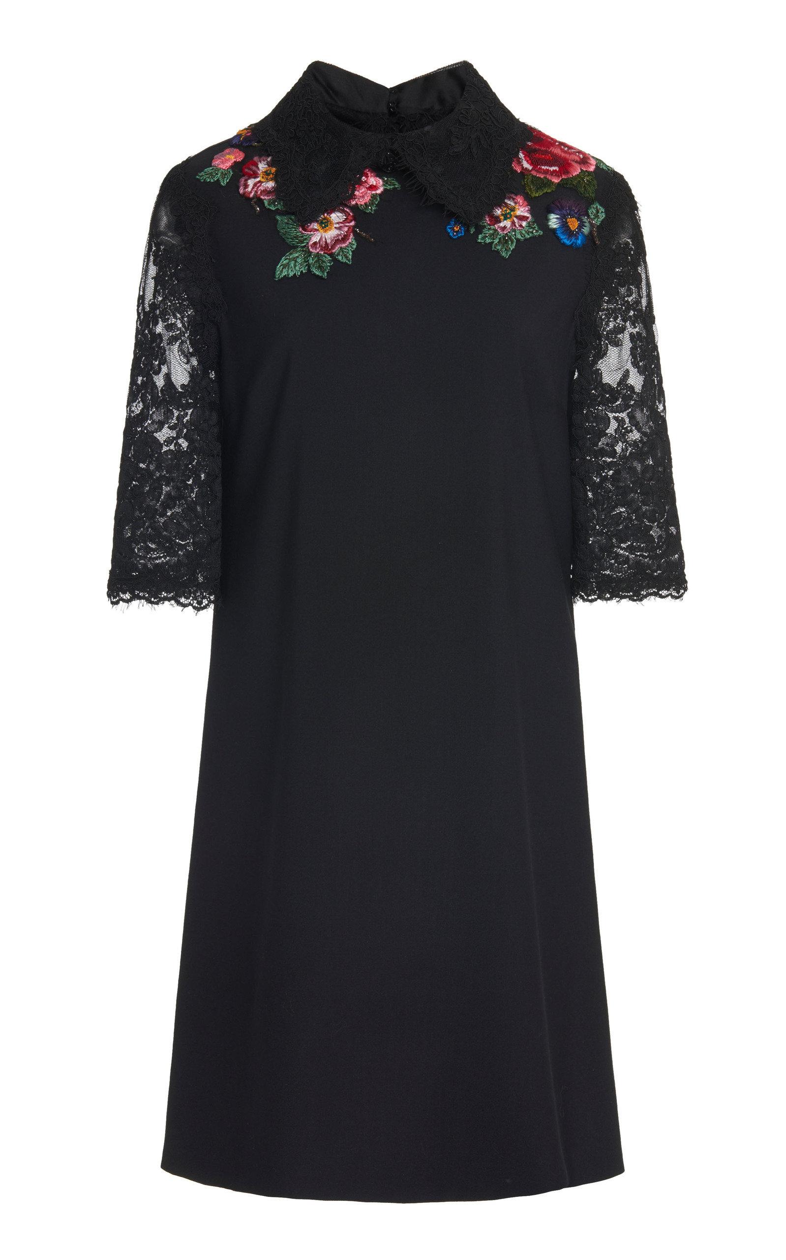 Buy Marchesa A-Line Collar Mini Dress online, shop Marchesa at the best price