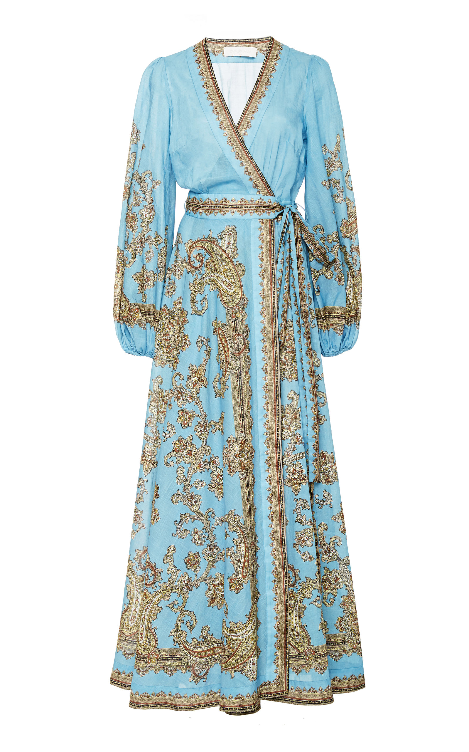 Buy Zimmermann Fiesta Printed Cotton Maxi Wrap Dress online, shop Zimmermann at the best price