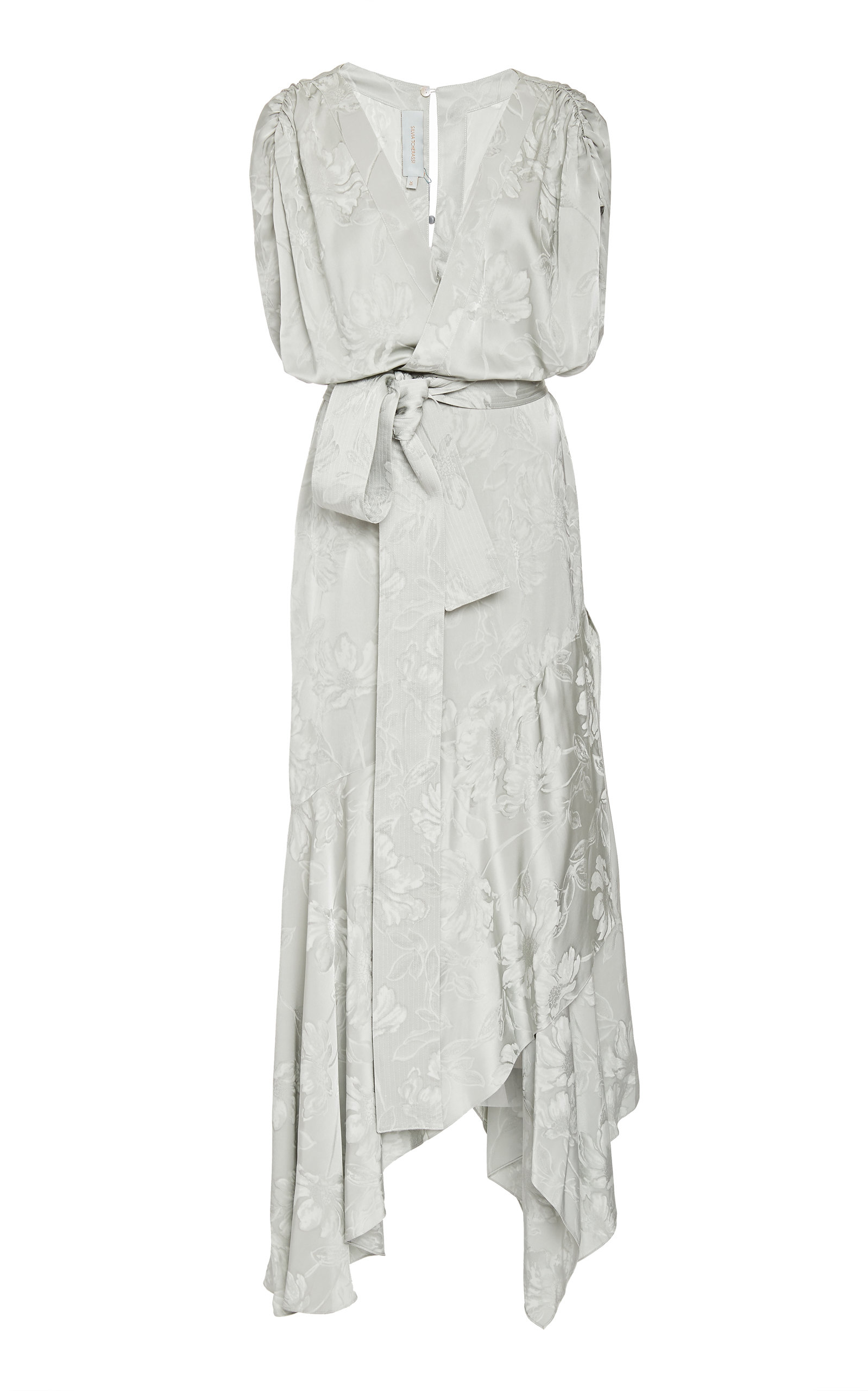 Buy Silvia Tcherassi Exclusive Protea Draped Floral Jacquard Maxi Dress online, shop Silvia Tcherassi at the best price