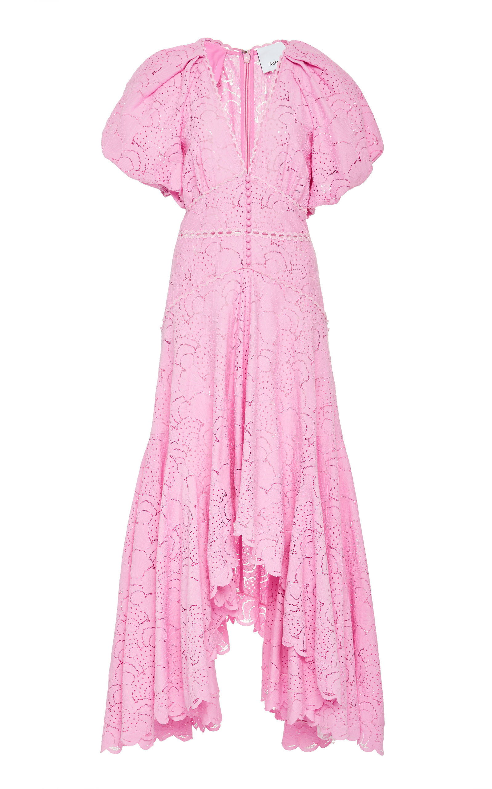 Acler COOKES PUFF-SLEEVE COTTON-BLEND DRESS