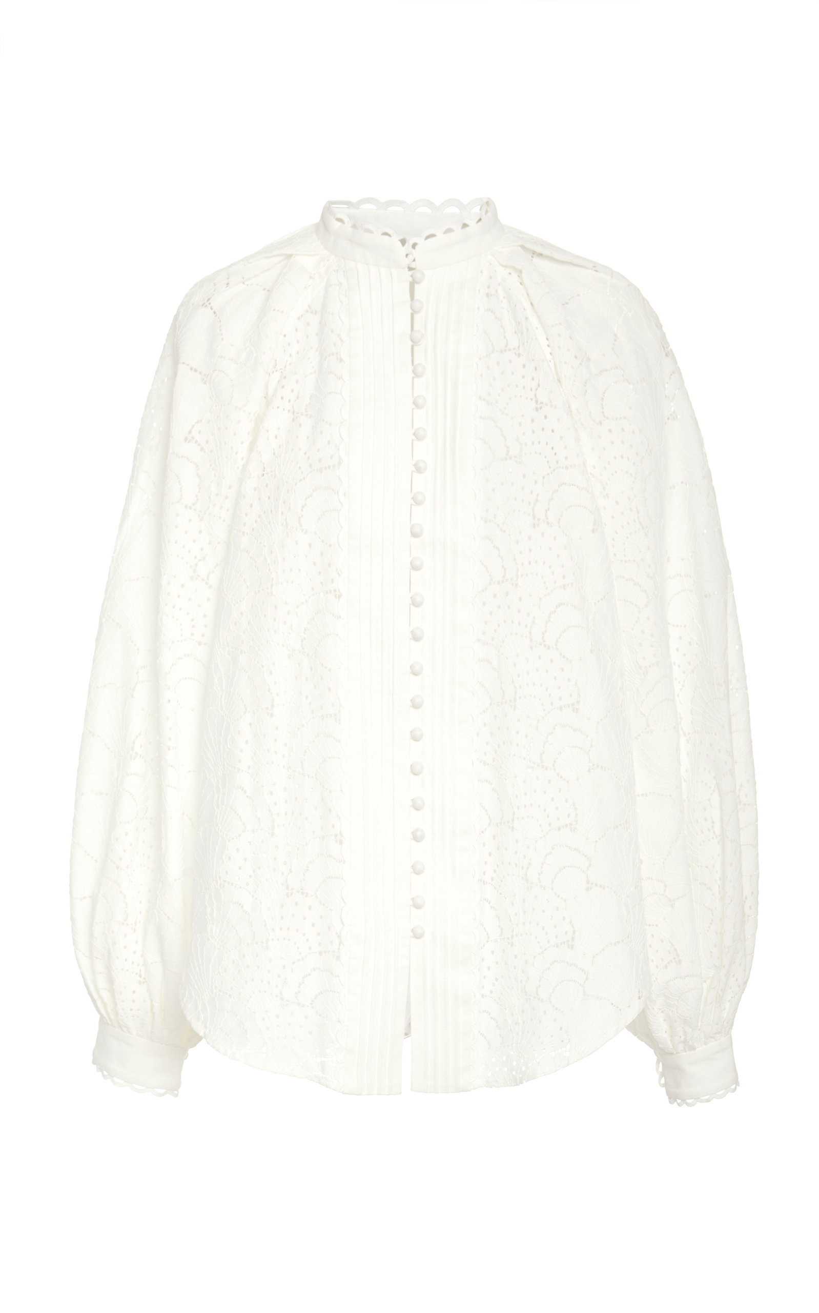 Acler COOKES LACE COTTON BLOUSE
