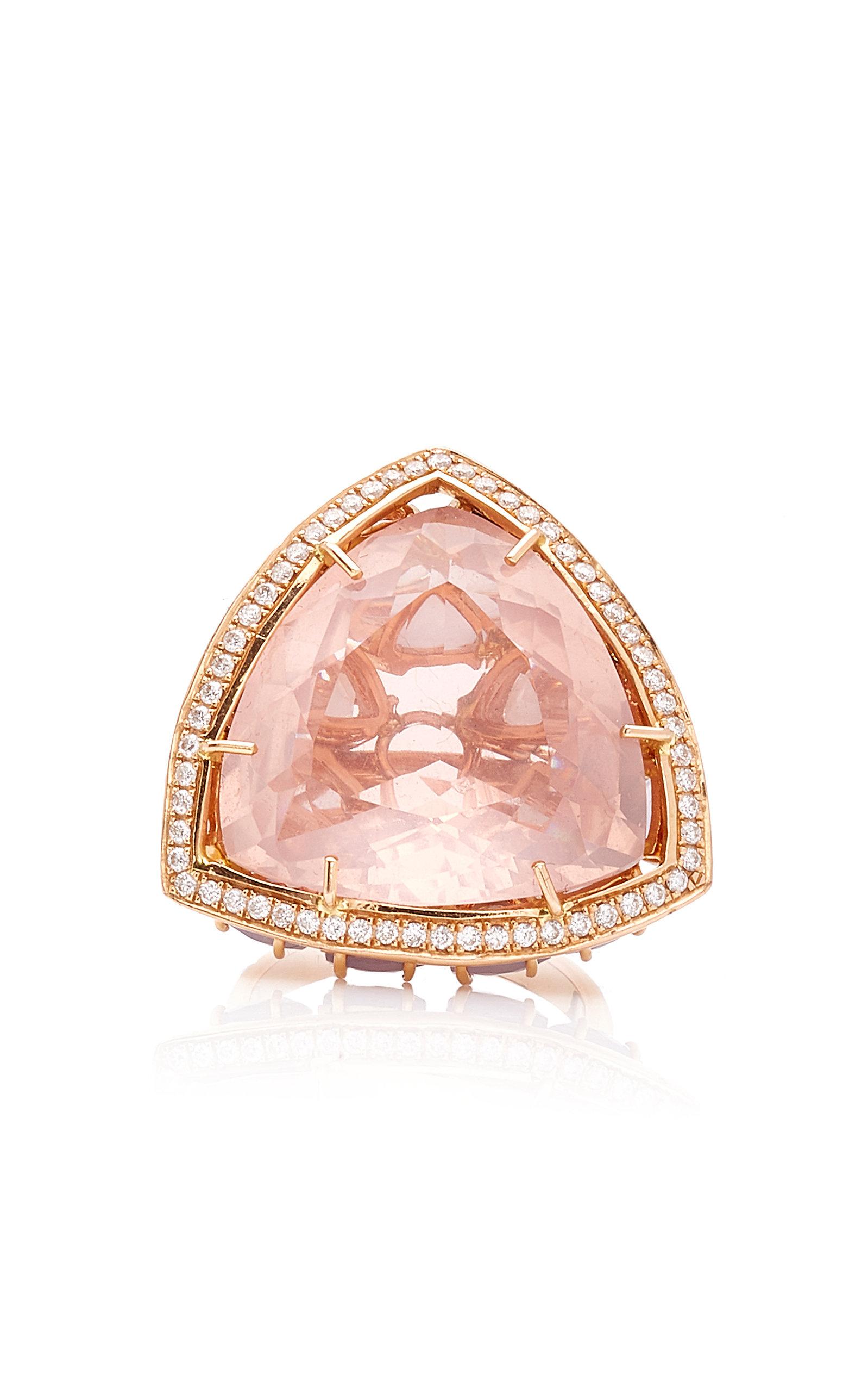 Women's Horizon Rose Quartz and Opal Ring