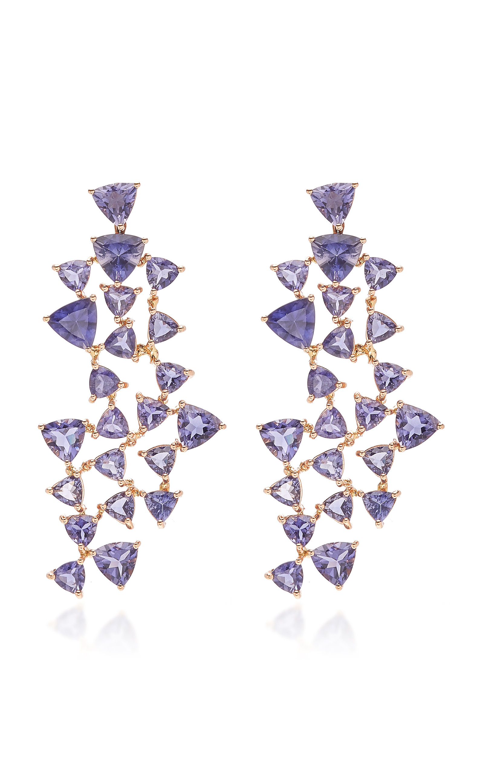 Women's Iolite Puzzle Earrings