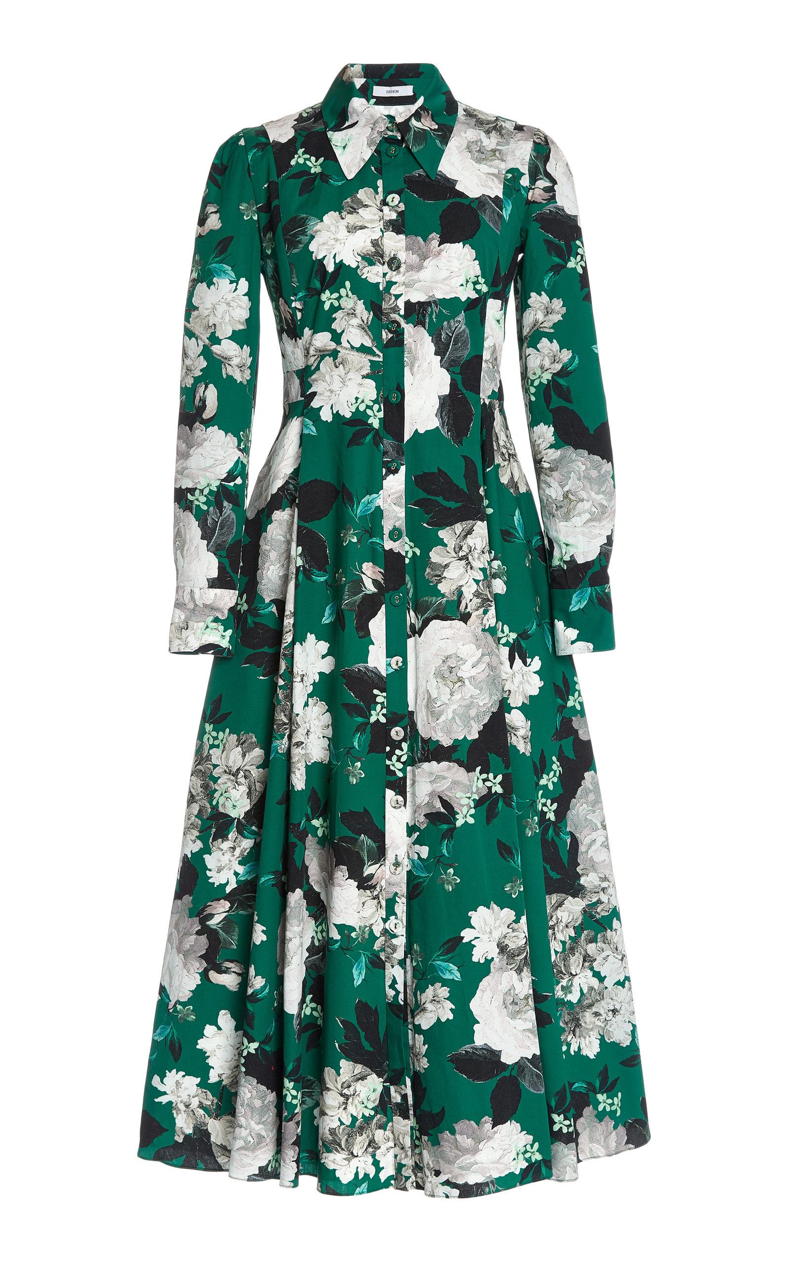 Buy Erdem Josianna Floral-Print Cotton Shirt Dress online, shop Erdem at the best price