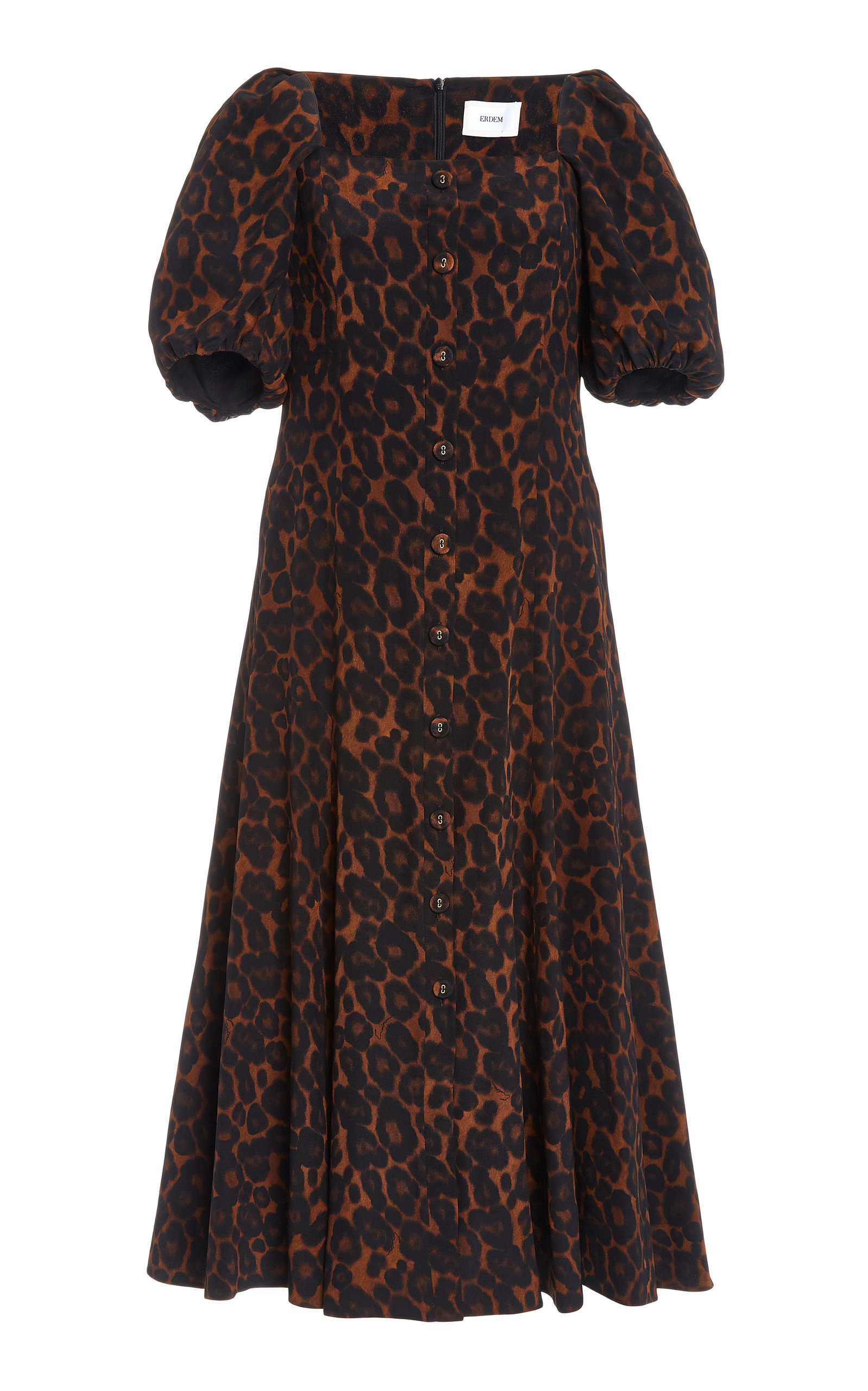 Buy Erdem Mariona Leopard Print Silk Midi Dress online, shop Erdem at the best price