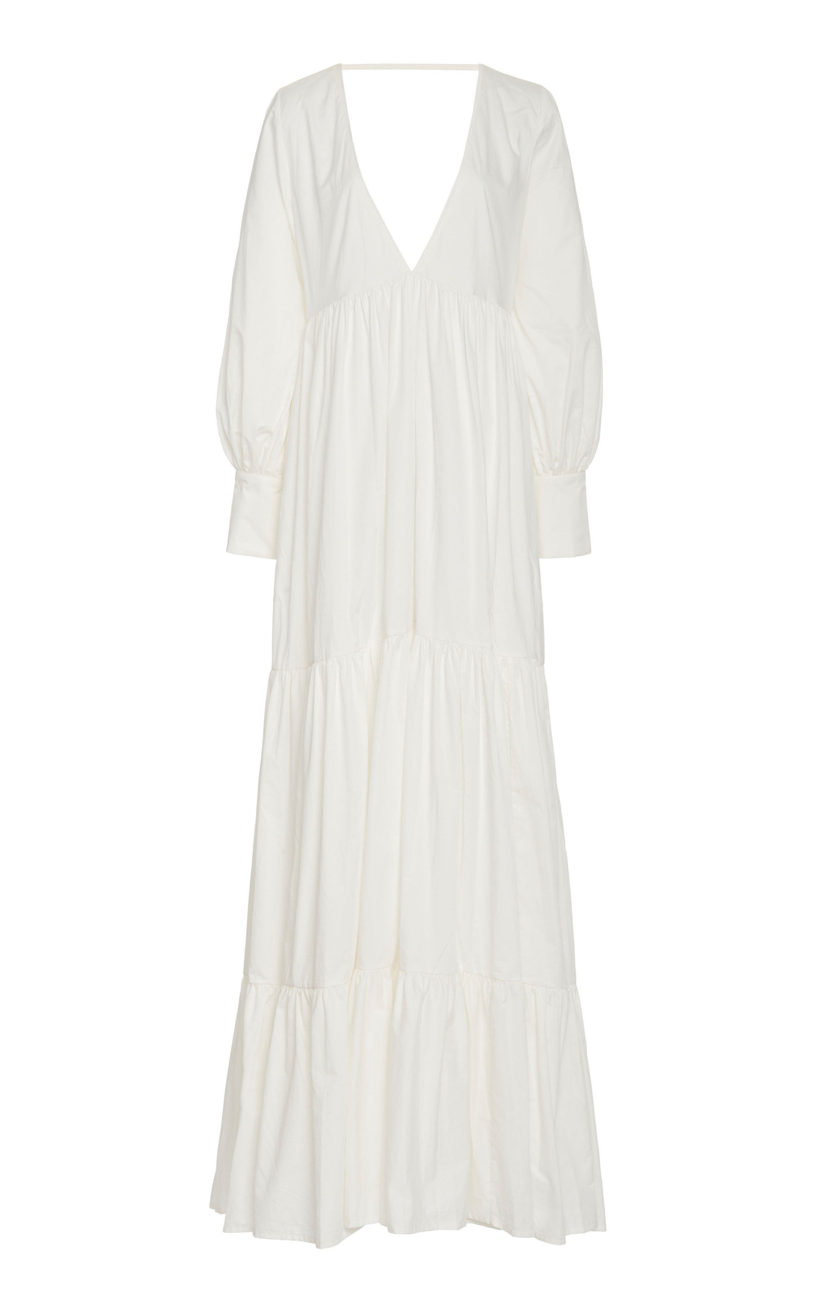 Women's Circle Day Cotton Maxi Dress
