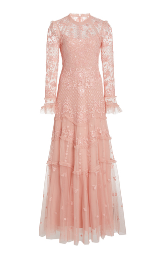 Needle & Thread MARIGOLD ROSE EMBELLISHED TULLE GOWN