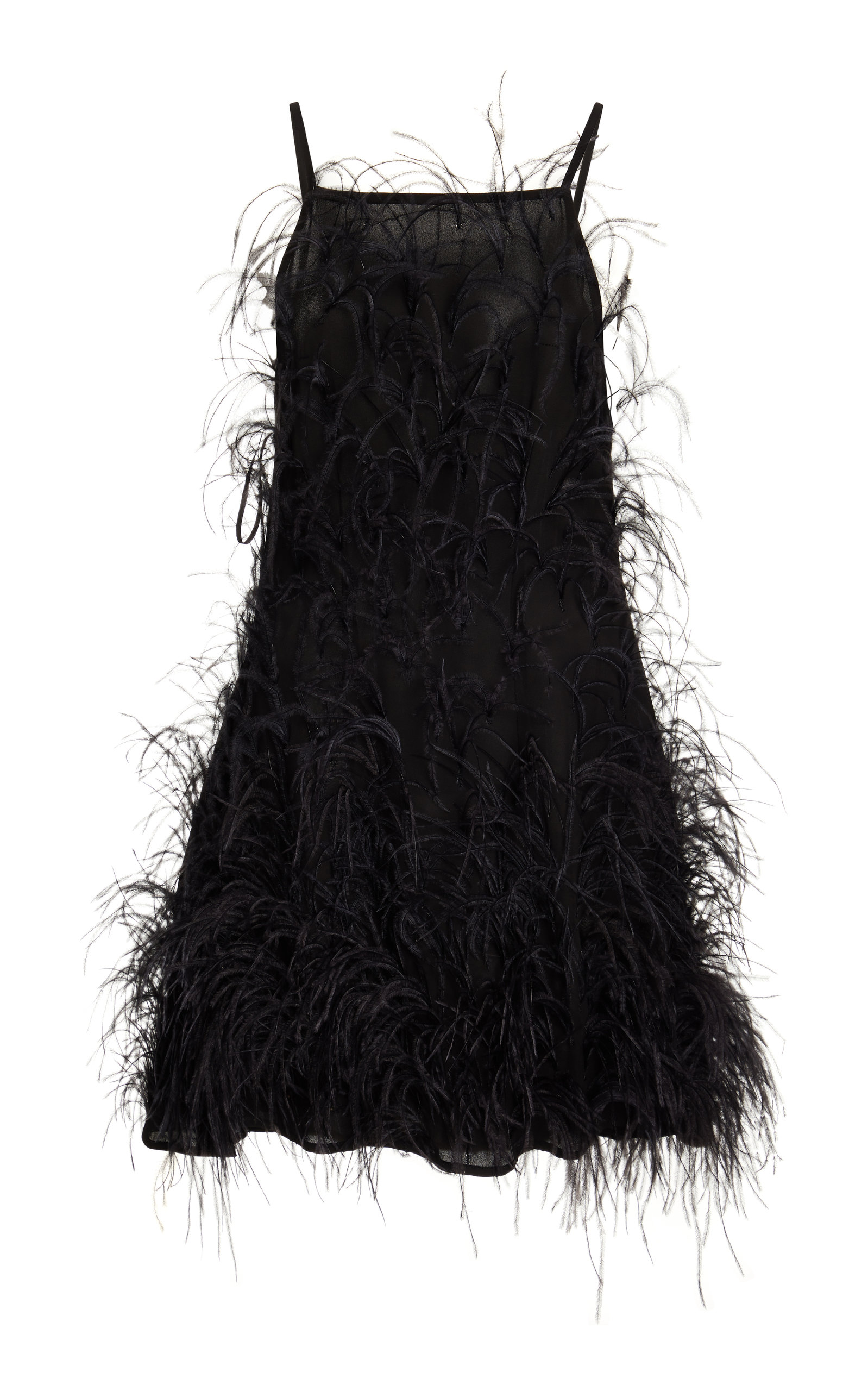 Buy Cult Gaia Shannon Feather-Embellished Jersey Mini Dress online, shop Cult Gaia at the best price